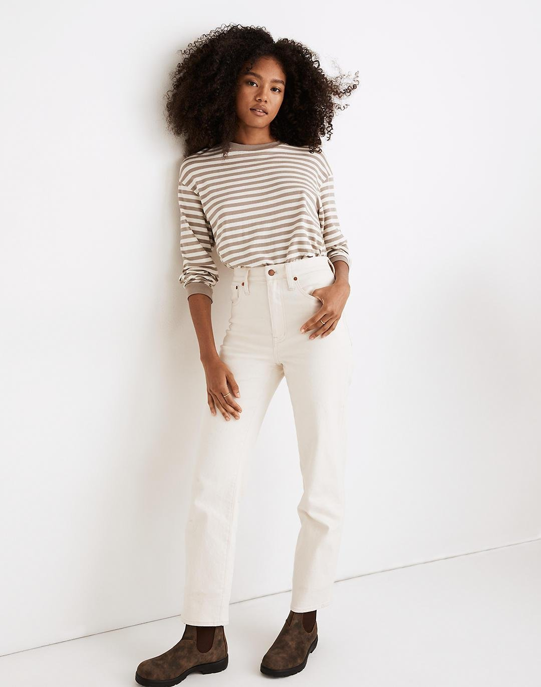 The Perfect Vintage Straight Jean in Vintage Canvas