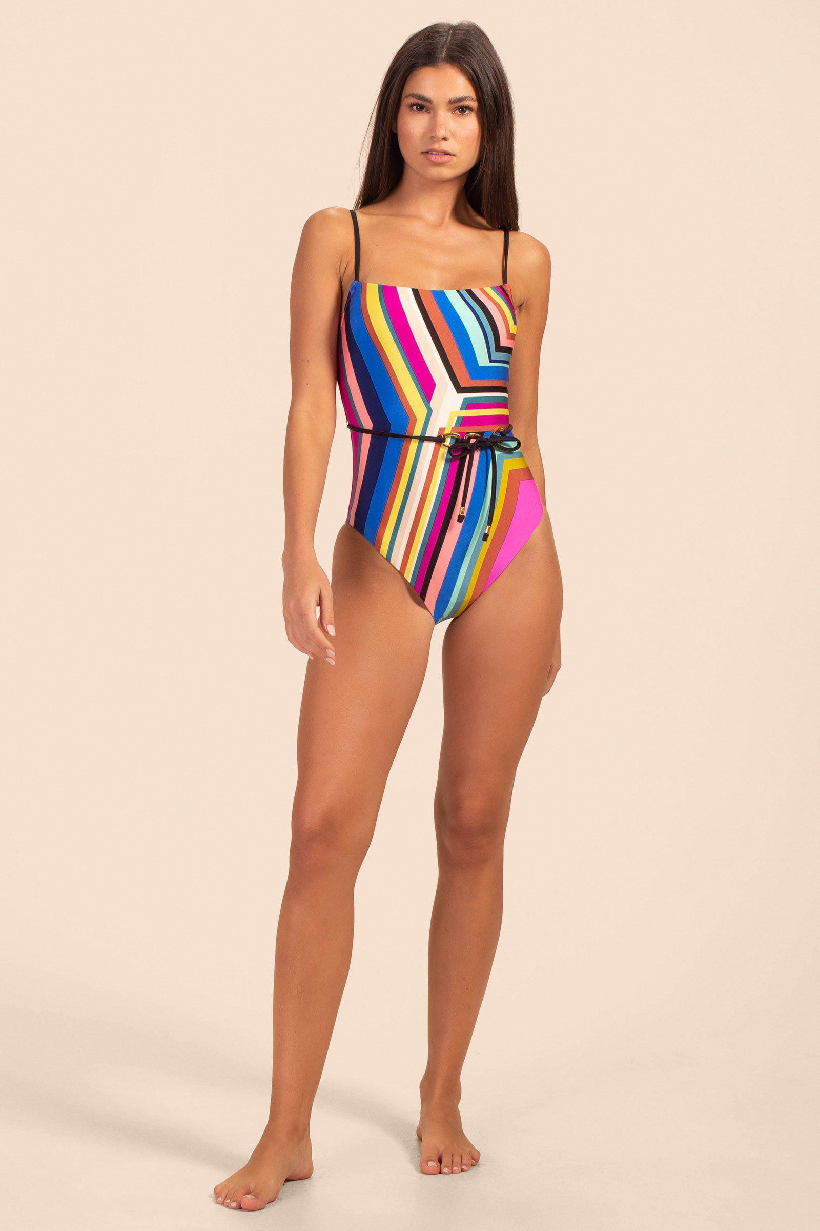 ILLUSIONS BELTED MAILLOT 2