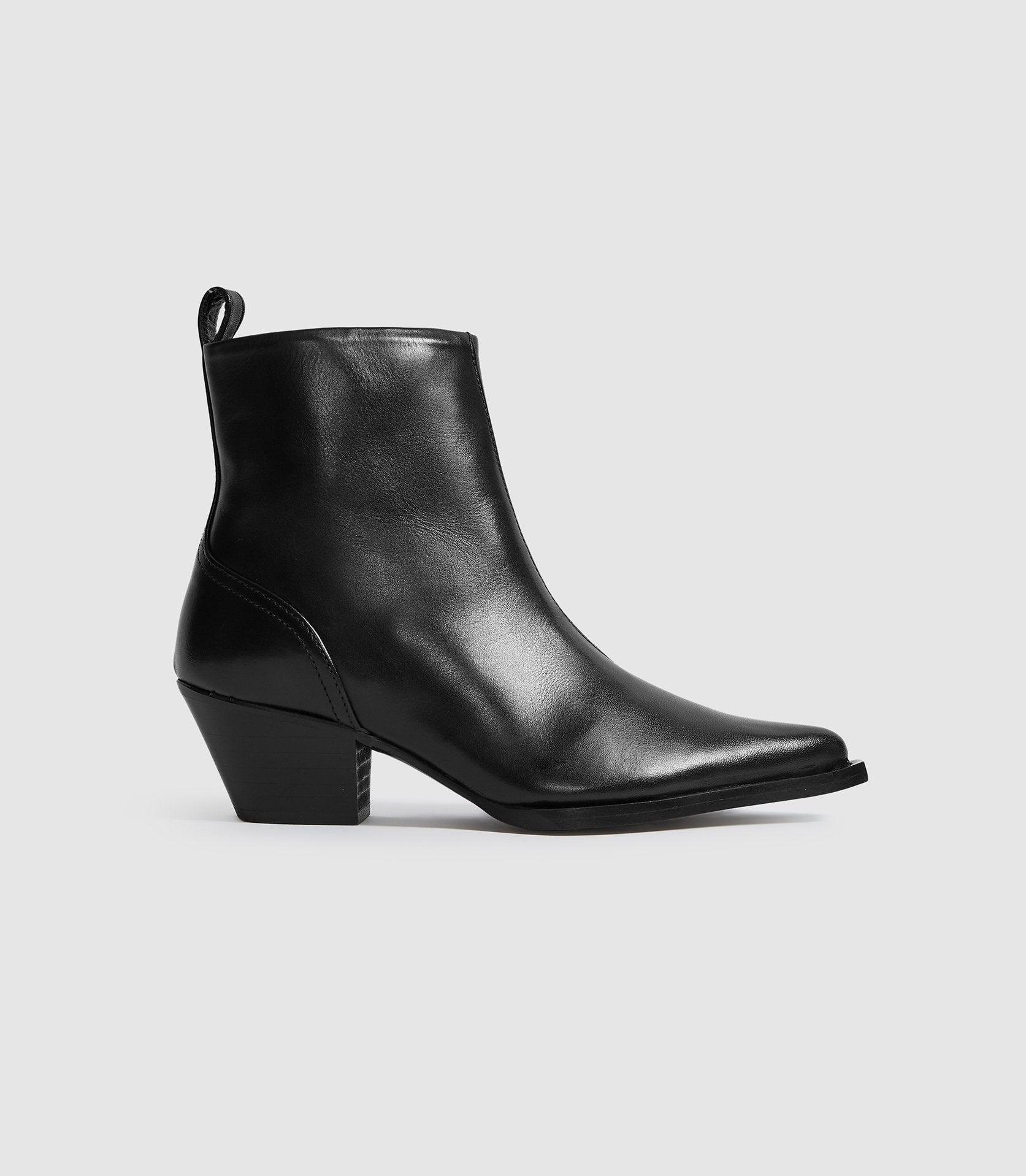 HAYWORTH - LEATHER WESTERN ANKLE BOOTS