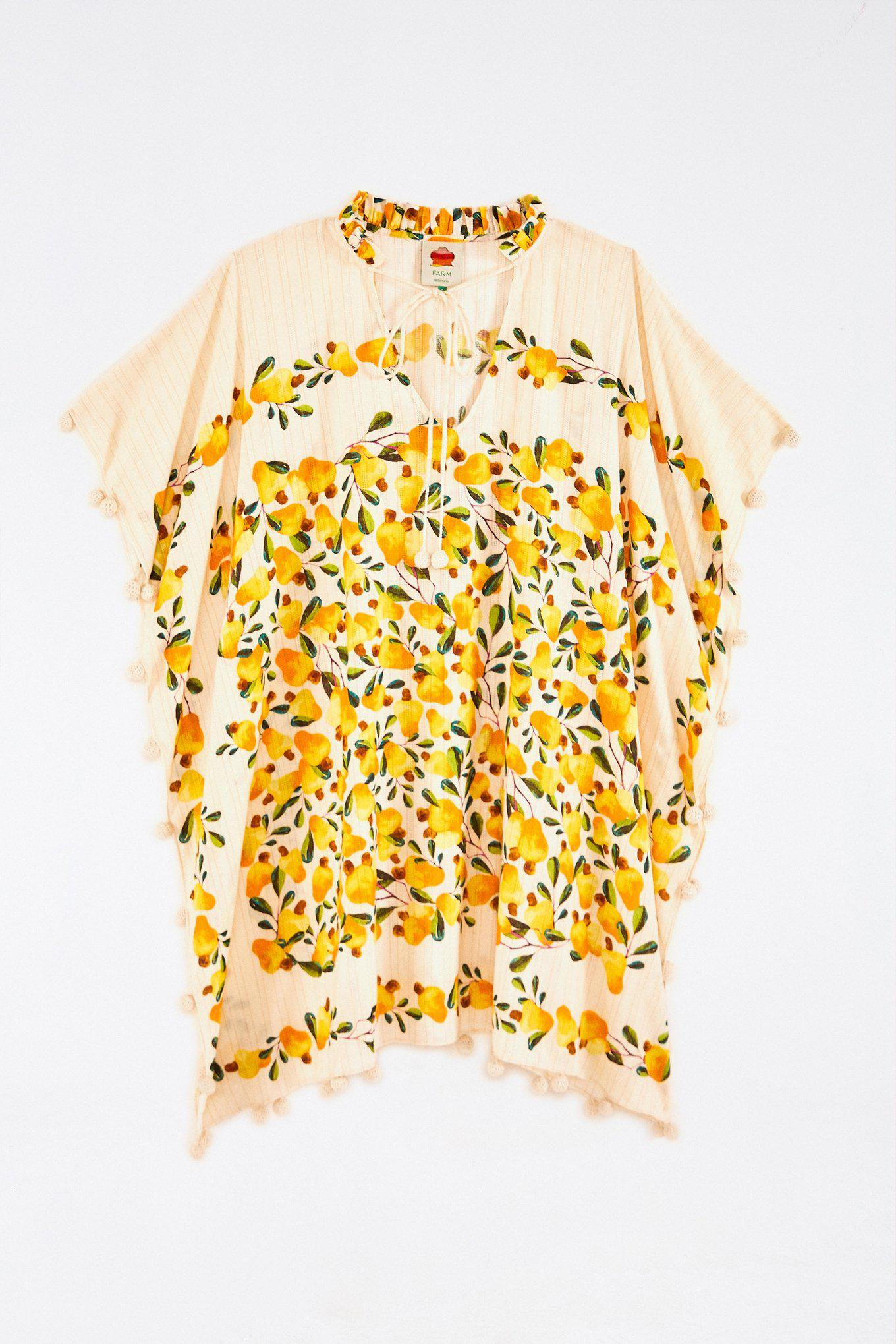 OFF WHITE CASHEW SCARF COVER UP