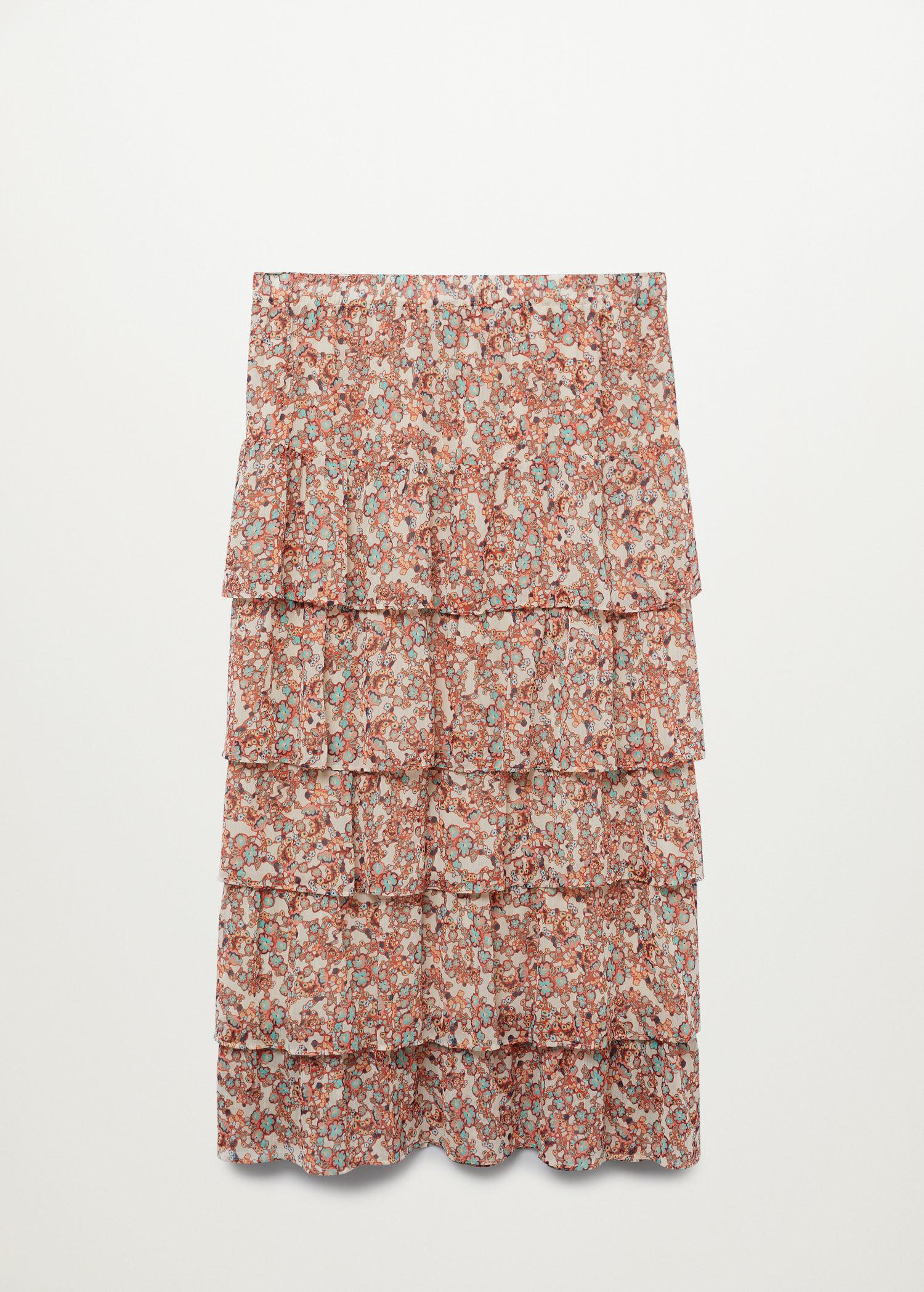 Printed skirt with ruffles 7