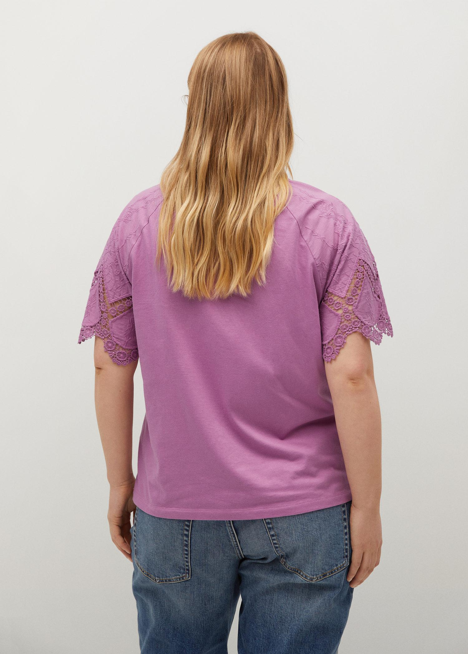 Embroidered sleeve T-shirt 2