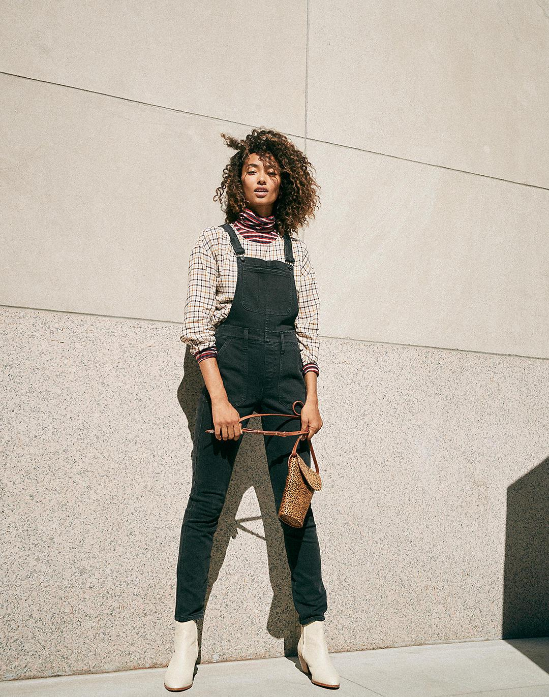 Tall Skinny Overalls in Lunar Wash