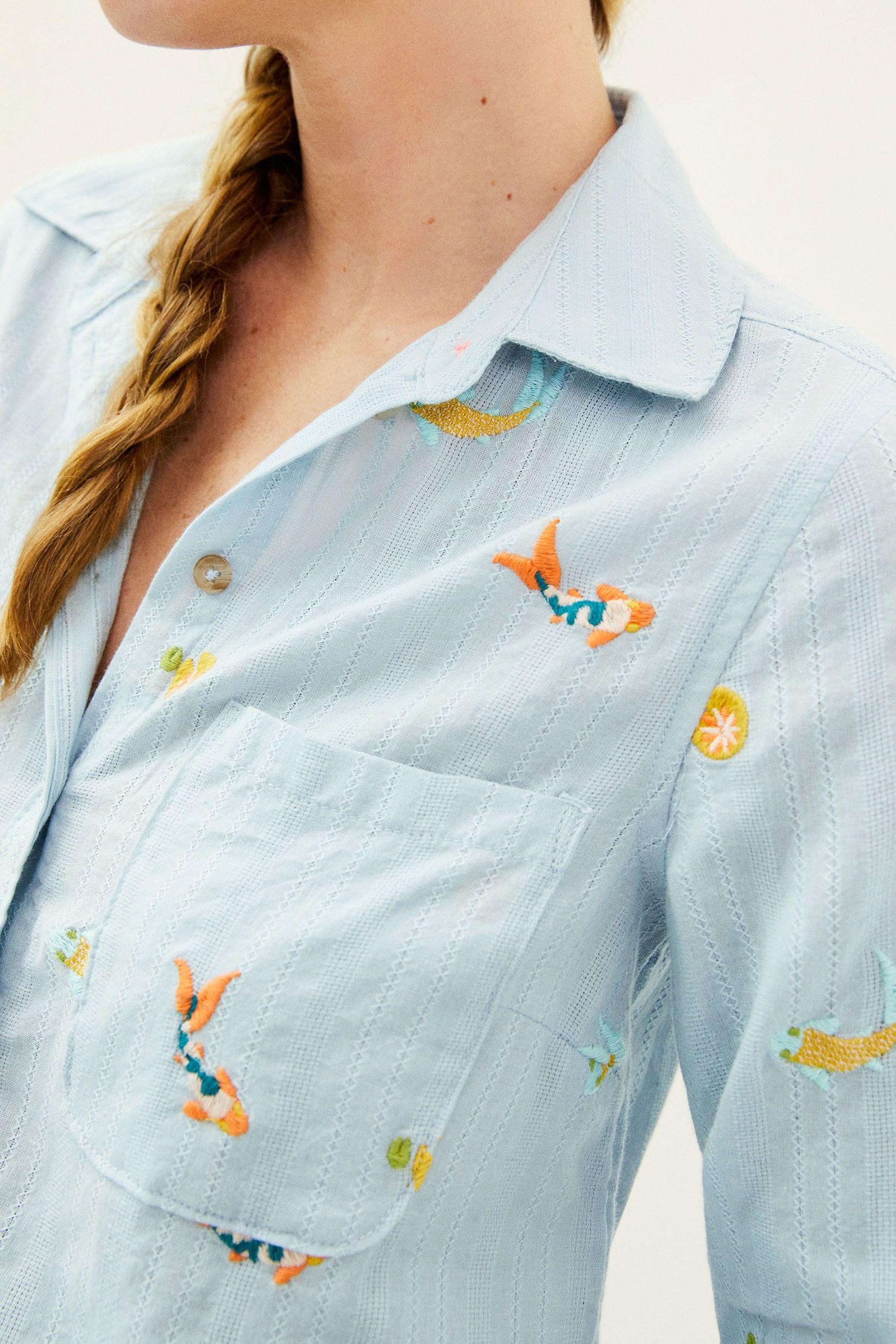 Maeve Embroidered Buttondown 2