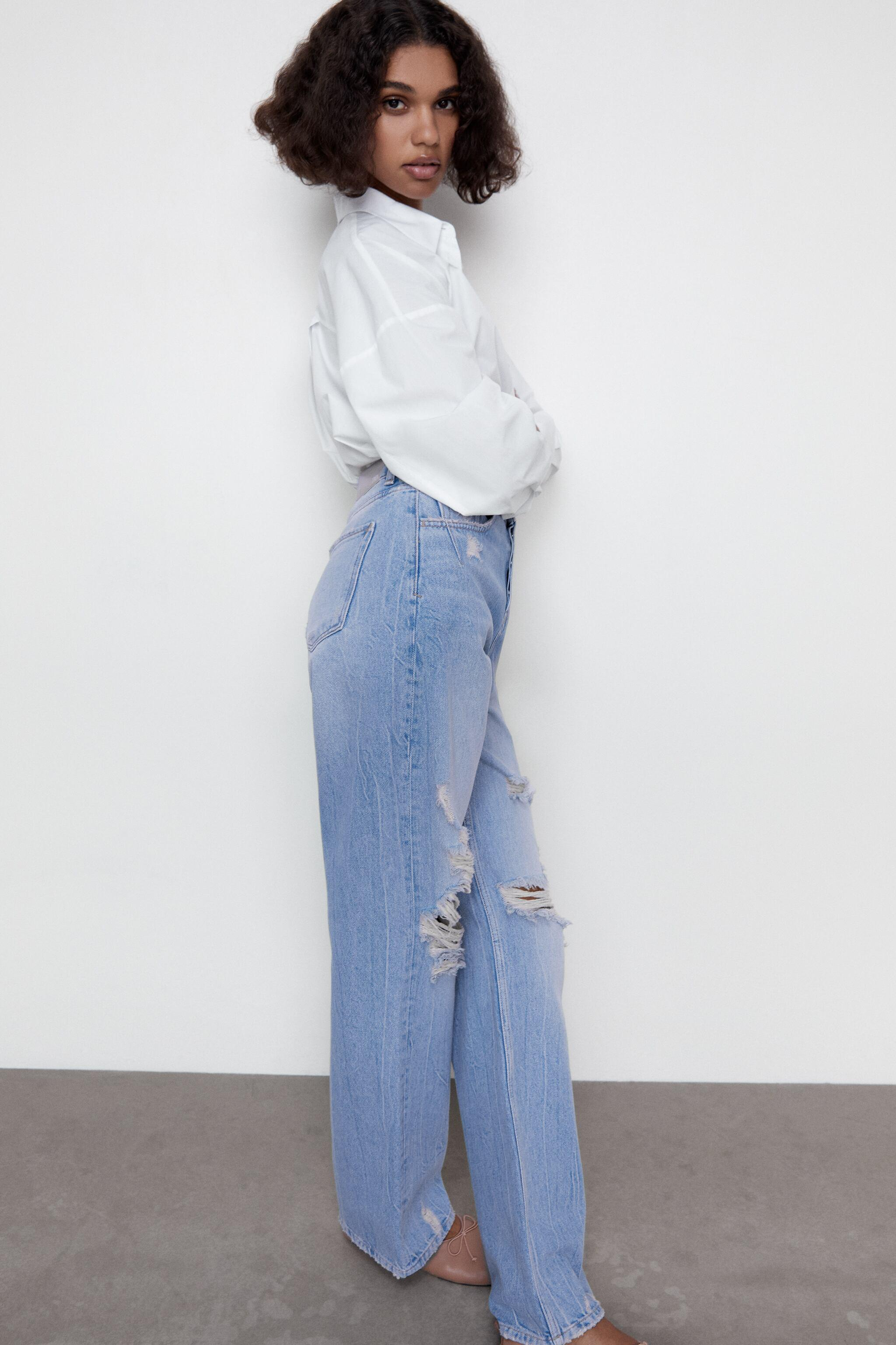 Z1975 HI-RISE STRAIGHT LEG JEANS WITH RIPS 3