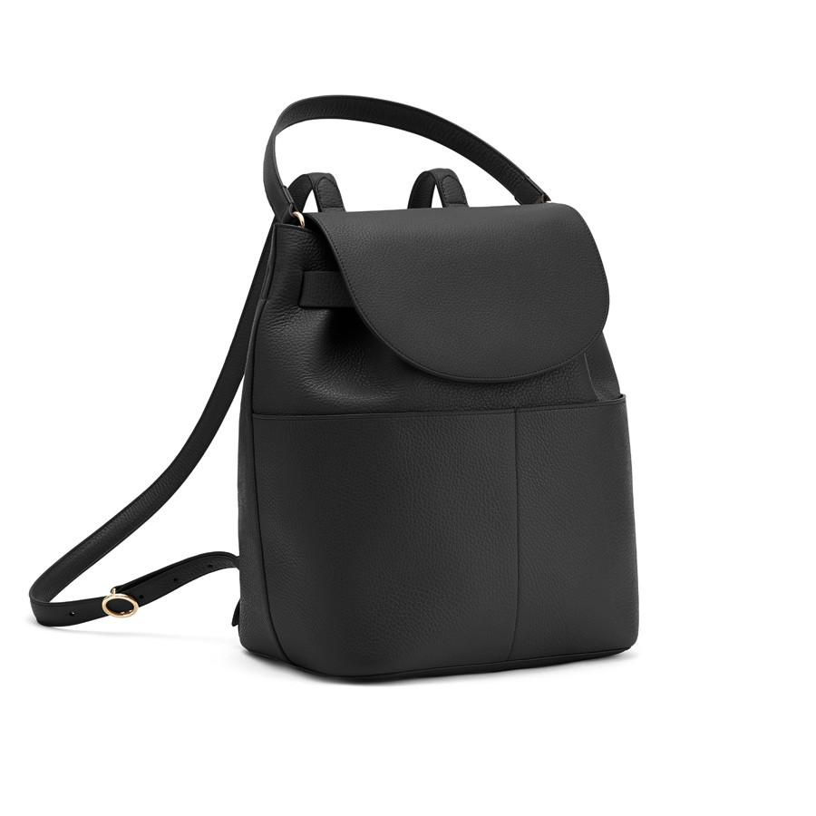 Women's Leather Backpack in Black | Pebbled Leather by Cuyana