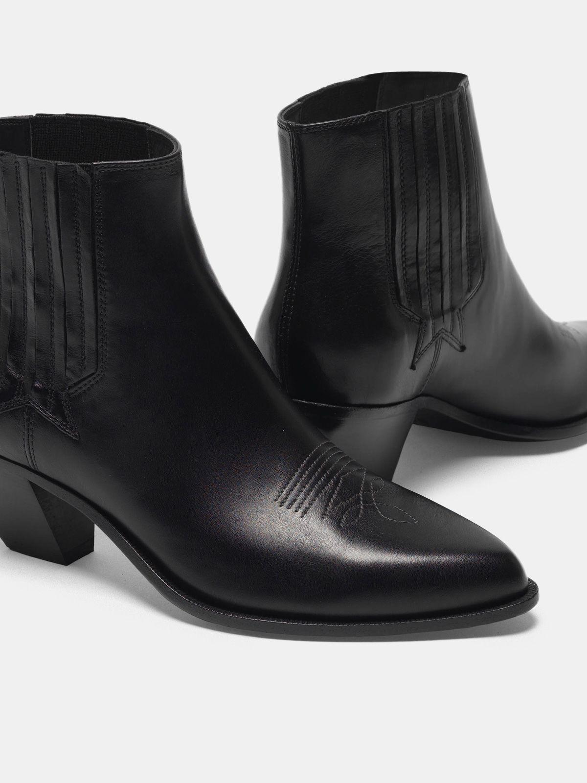 Sunset ankle boots in black leather 3