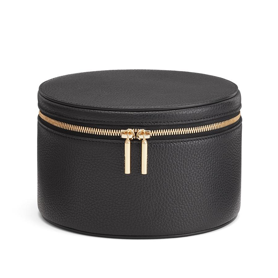 Women's Leather Wellness Case in Black | Pebbled Leather by Cuyana