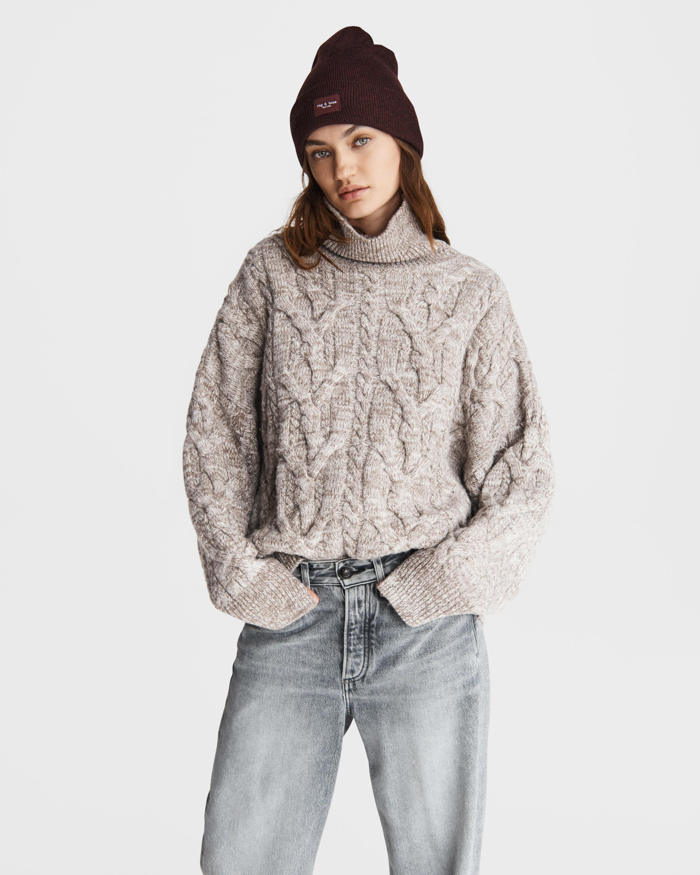Nora cable wool turtleneck 0