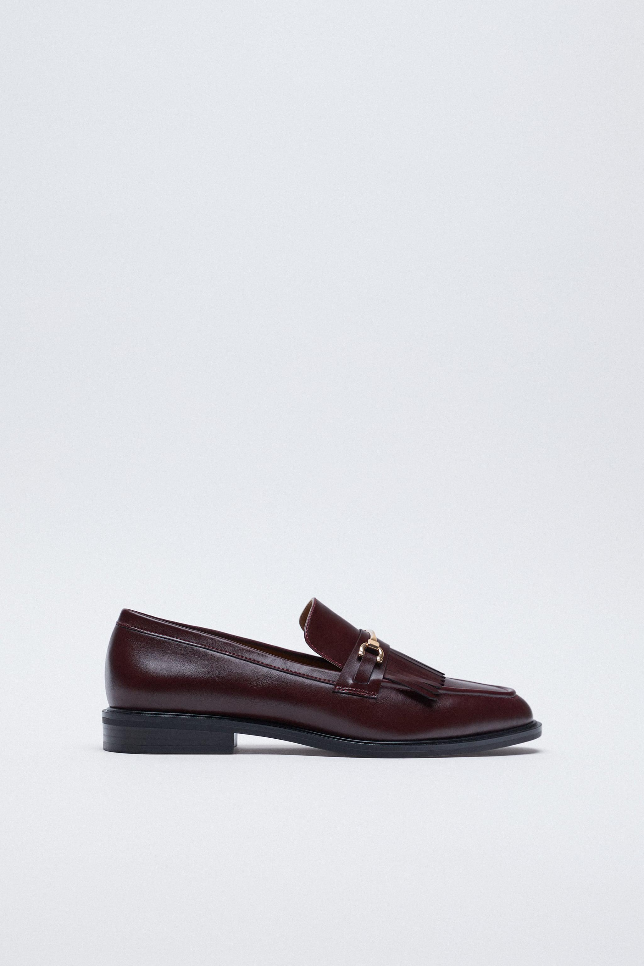 LOW HEEL FRINGED LOAFERS