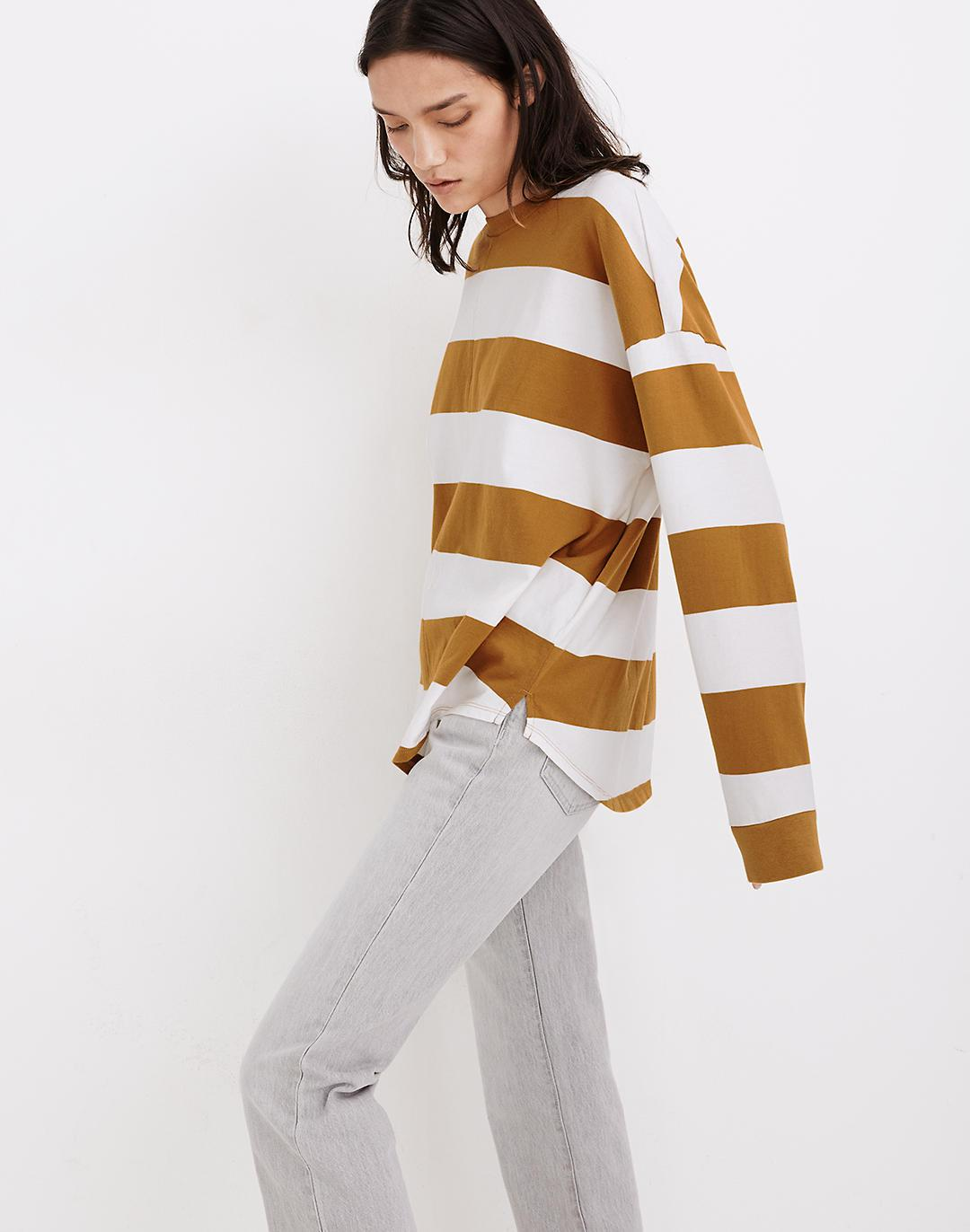 (Re)sourced Cotton Newville Tee in Lindell Stripe 1