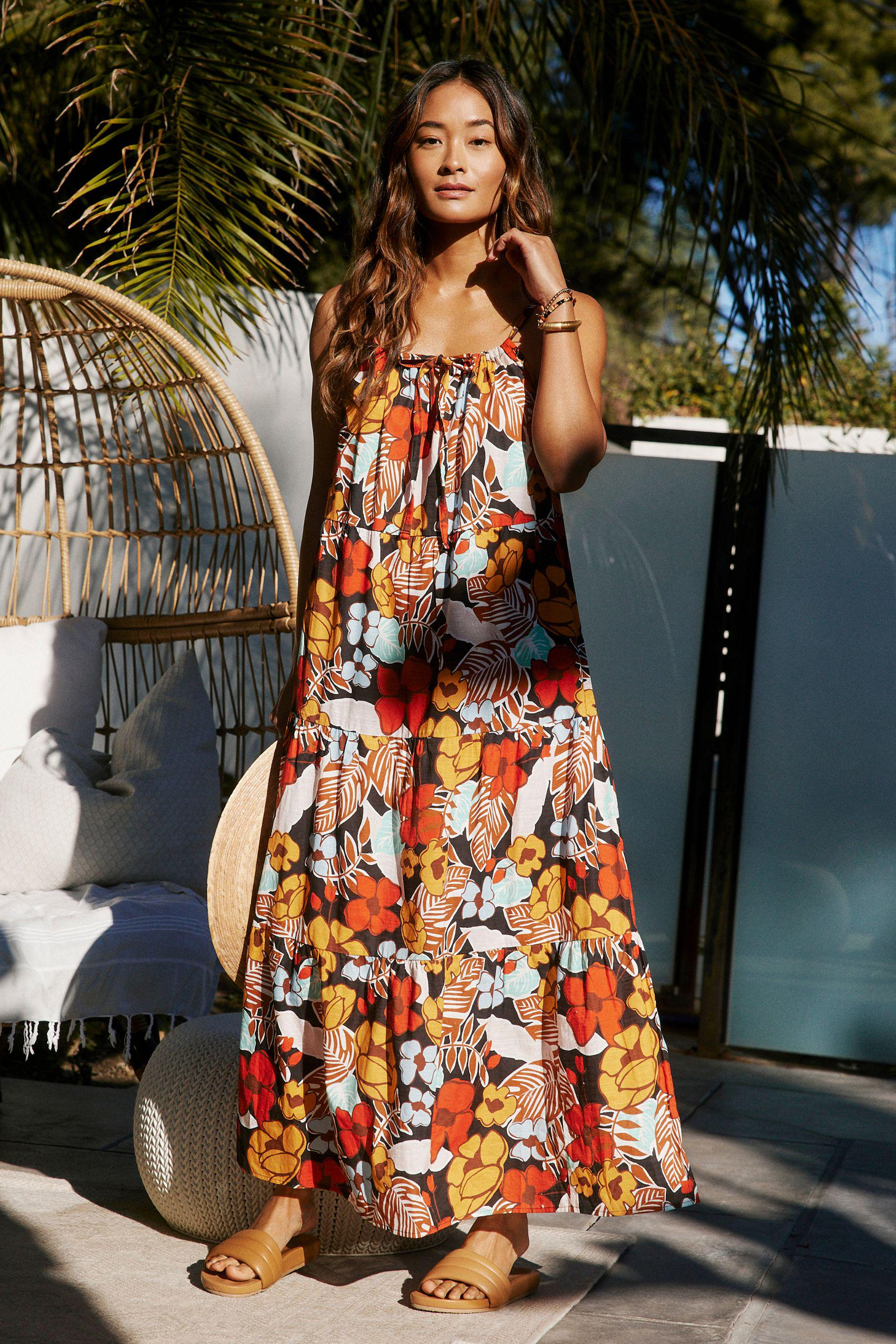 Denyse Tiered Cover-Up Maxi Dress