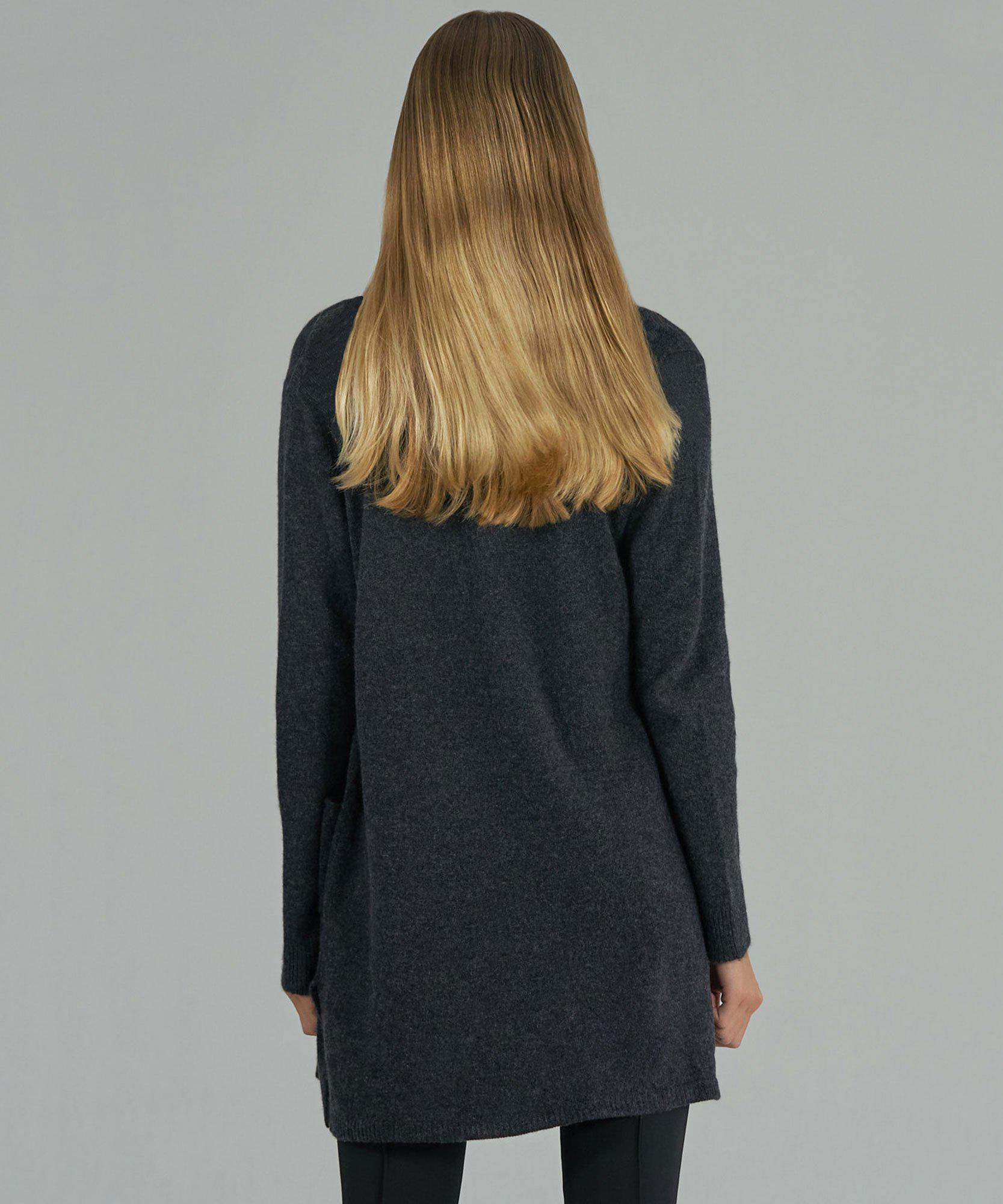 Cashmere Cardigan - Charcoal 2