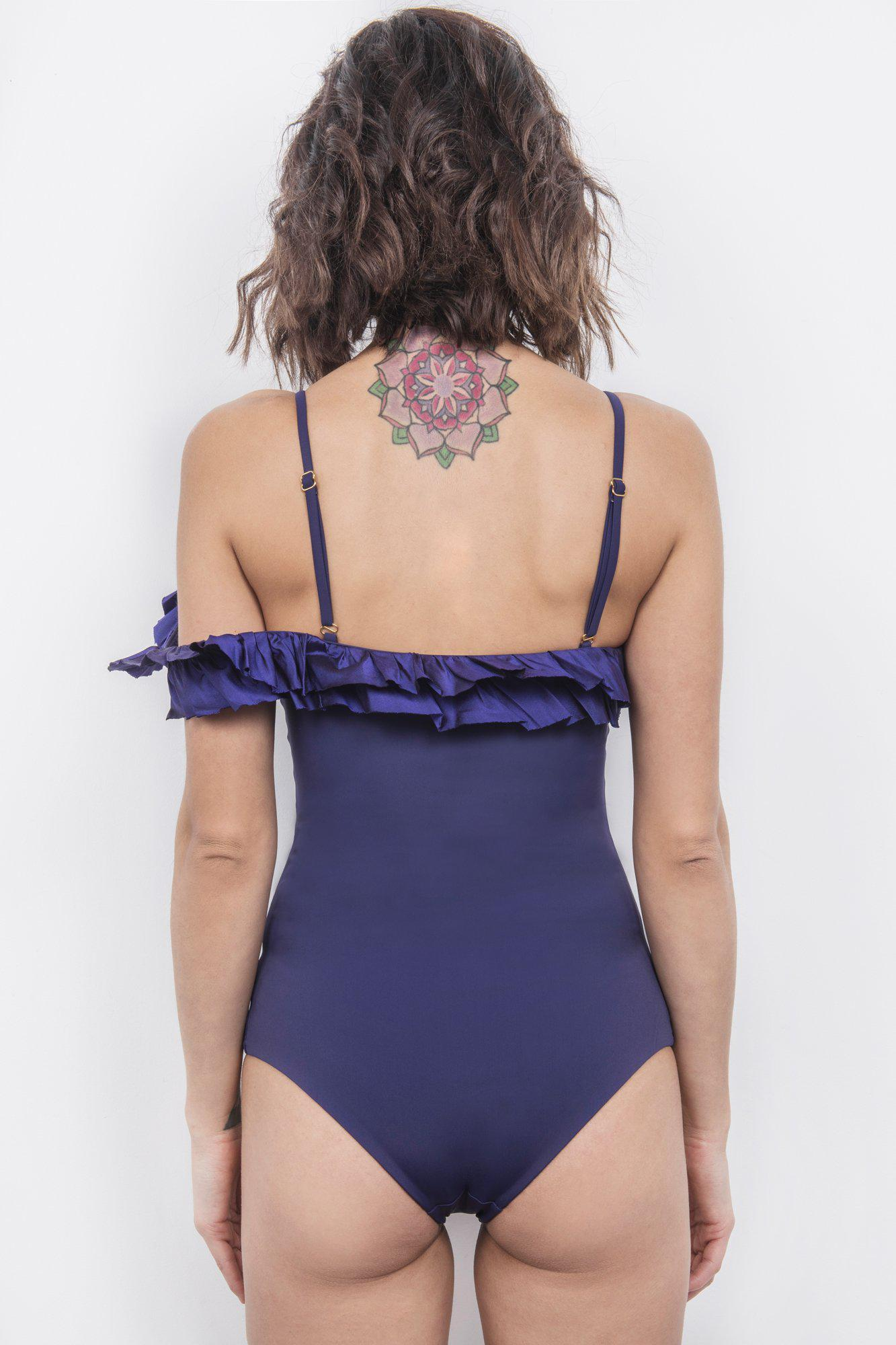 Peony Off-The-Shoulder One-Piece 1