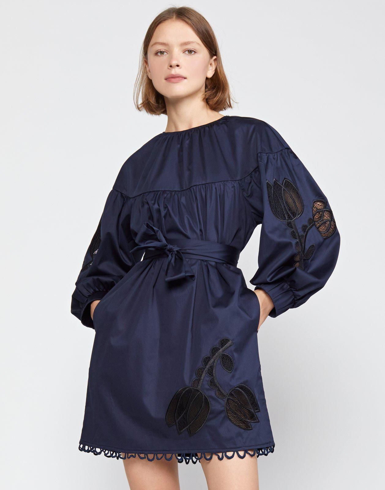 Tulip Lace Embroidered Dress