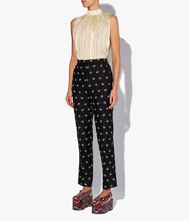 Pansy Trousers Embroidered Tailoring