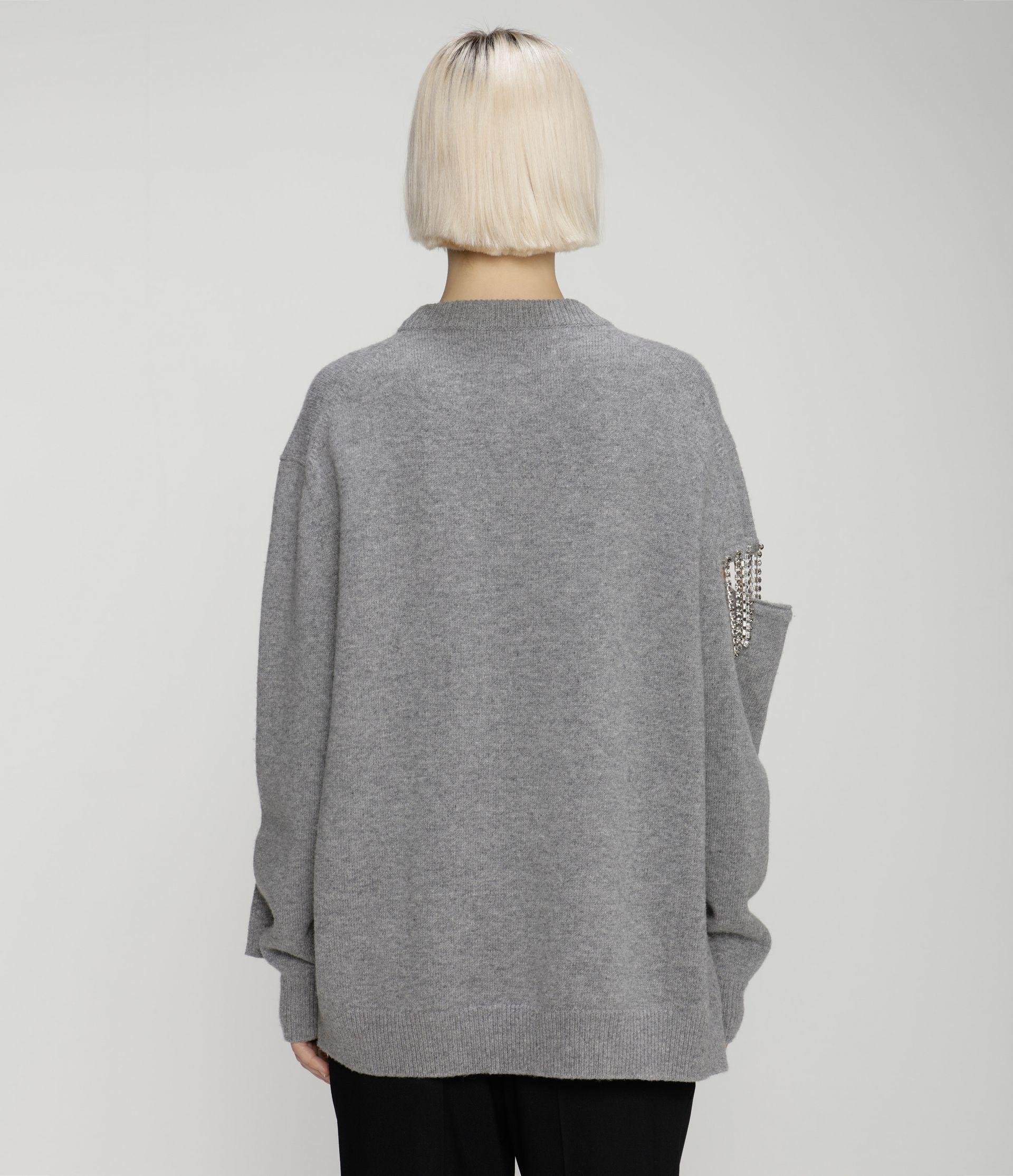 cut-out cupchain knitted sweater 2