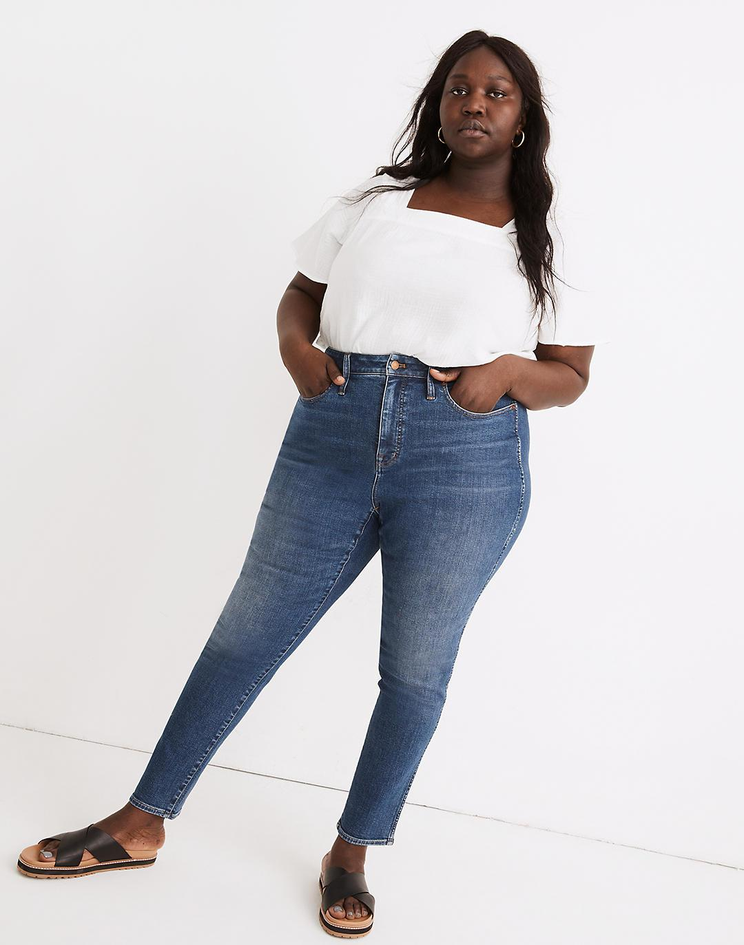 Plus Curvy High-Rise Skinny Jeans in Wendover Wash: TENCEL™ Denim Edition