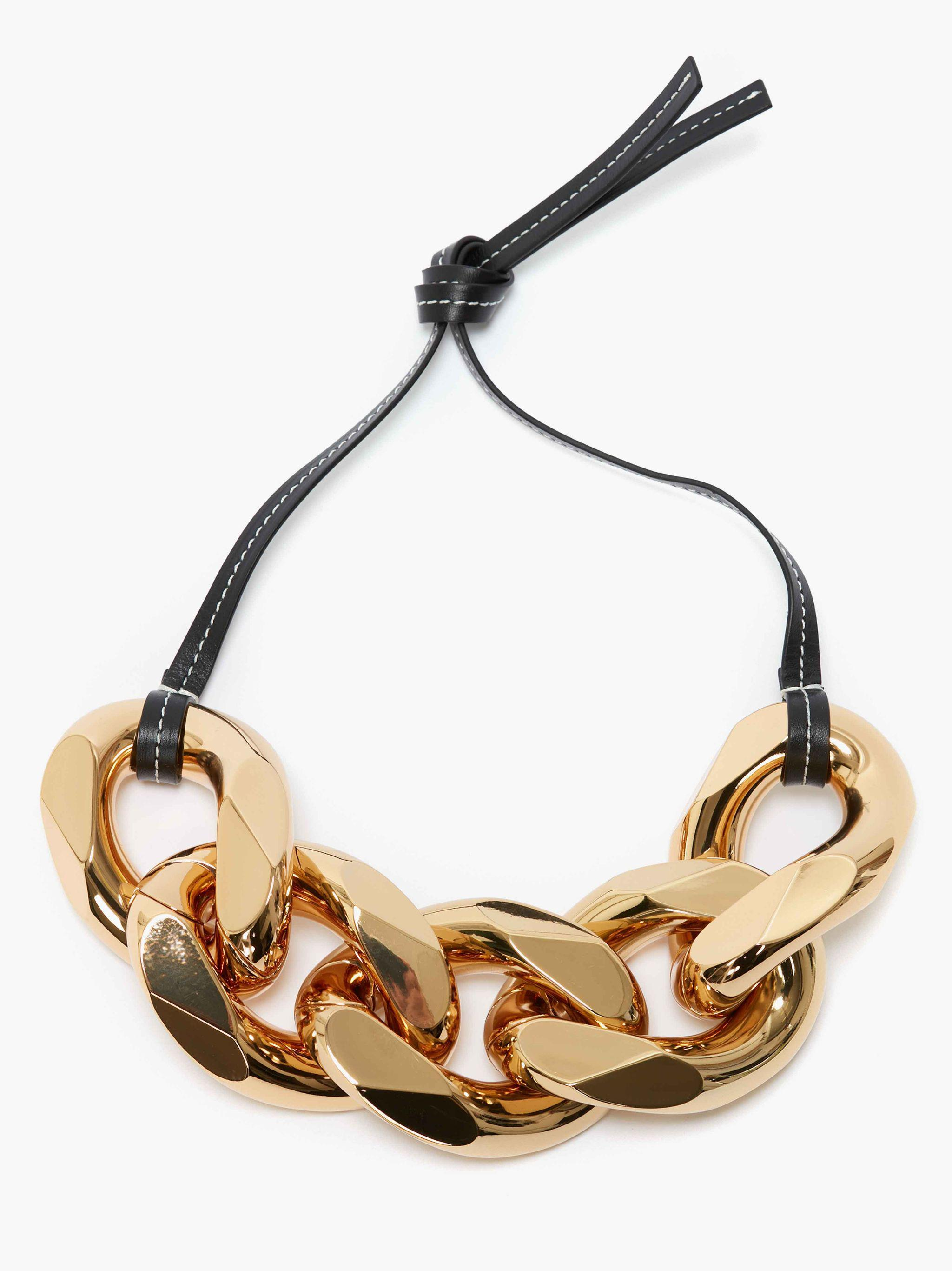 small chain-link necklace