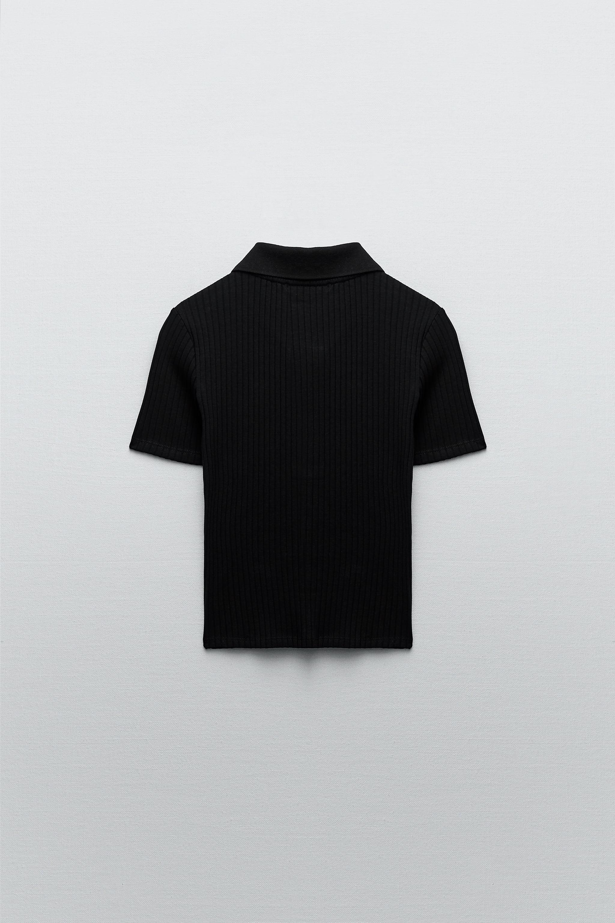 RIBBED BUTTONED POLO 5