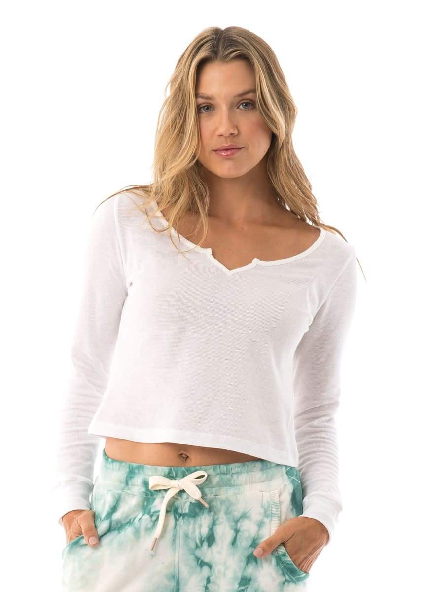 Dew Pearl Cropped Long Sleeve