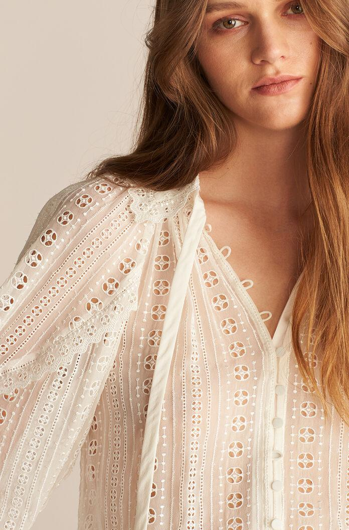 LONG SLEEVE GEO EMBROIDERED BLOUSE 2