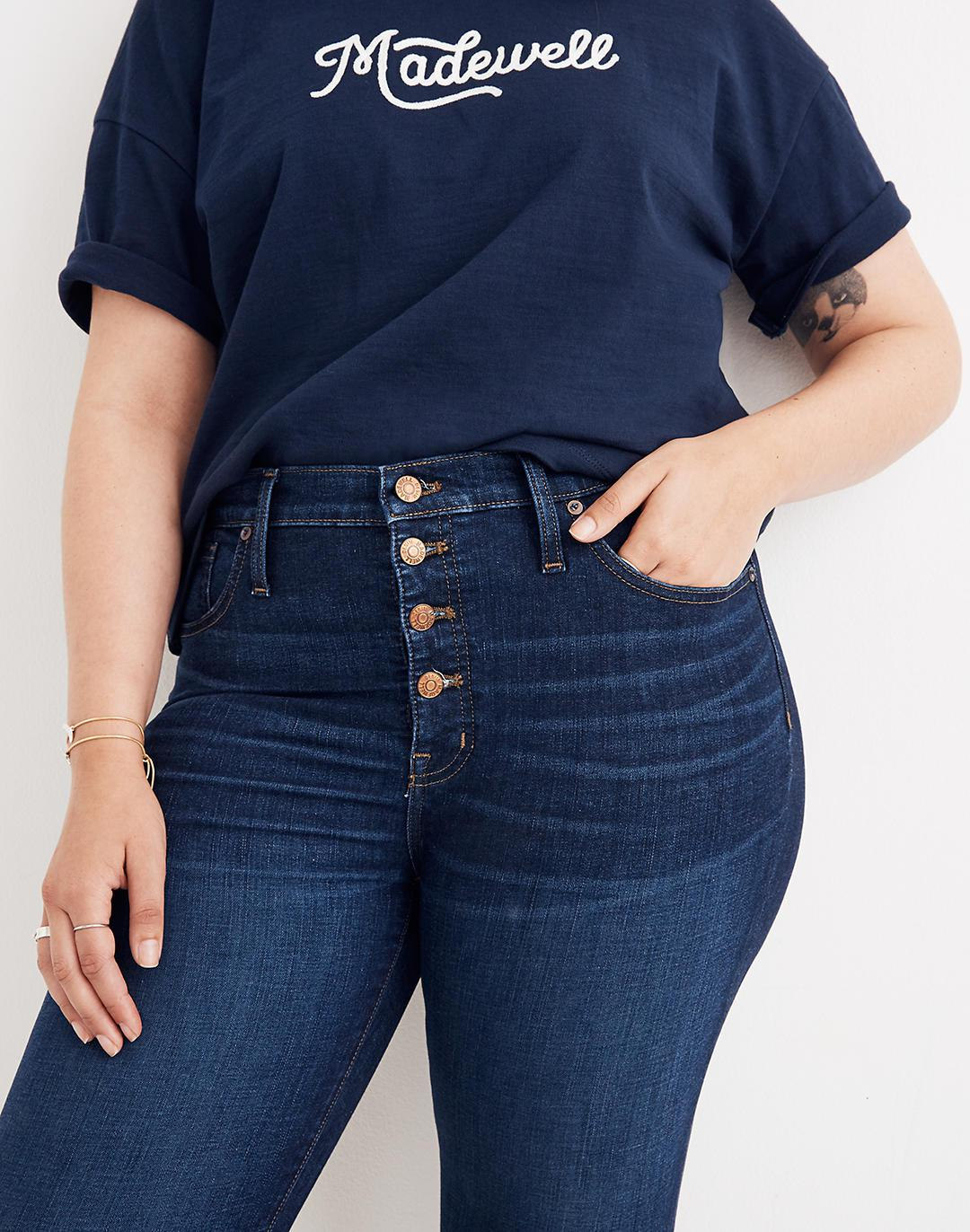 """Petite 9"""" Mid-Rise Skinny Jeans in Hayes Wash: Button-Front Edition 2"""