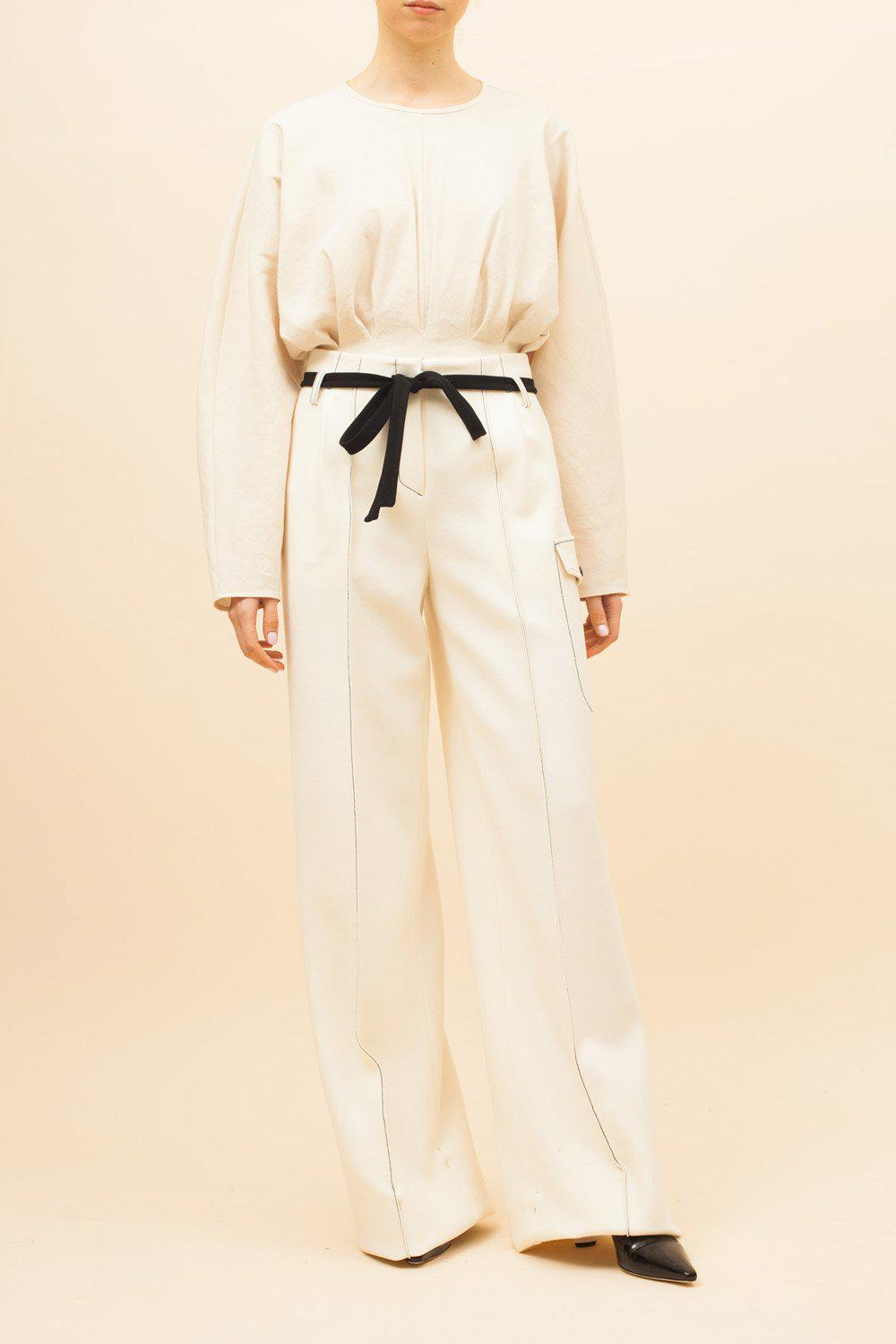 Eve Trousers Wool Ivory - SPECIAL PRICE 0