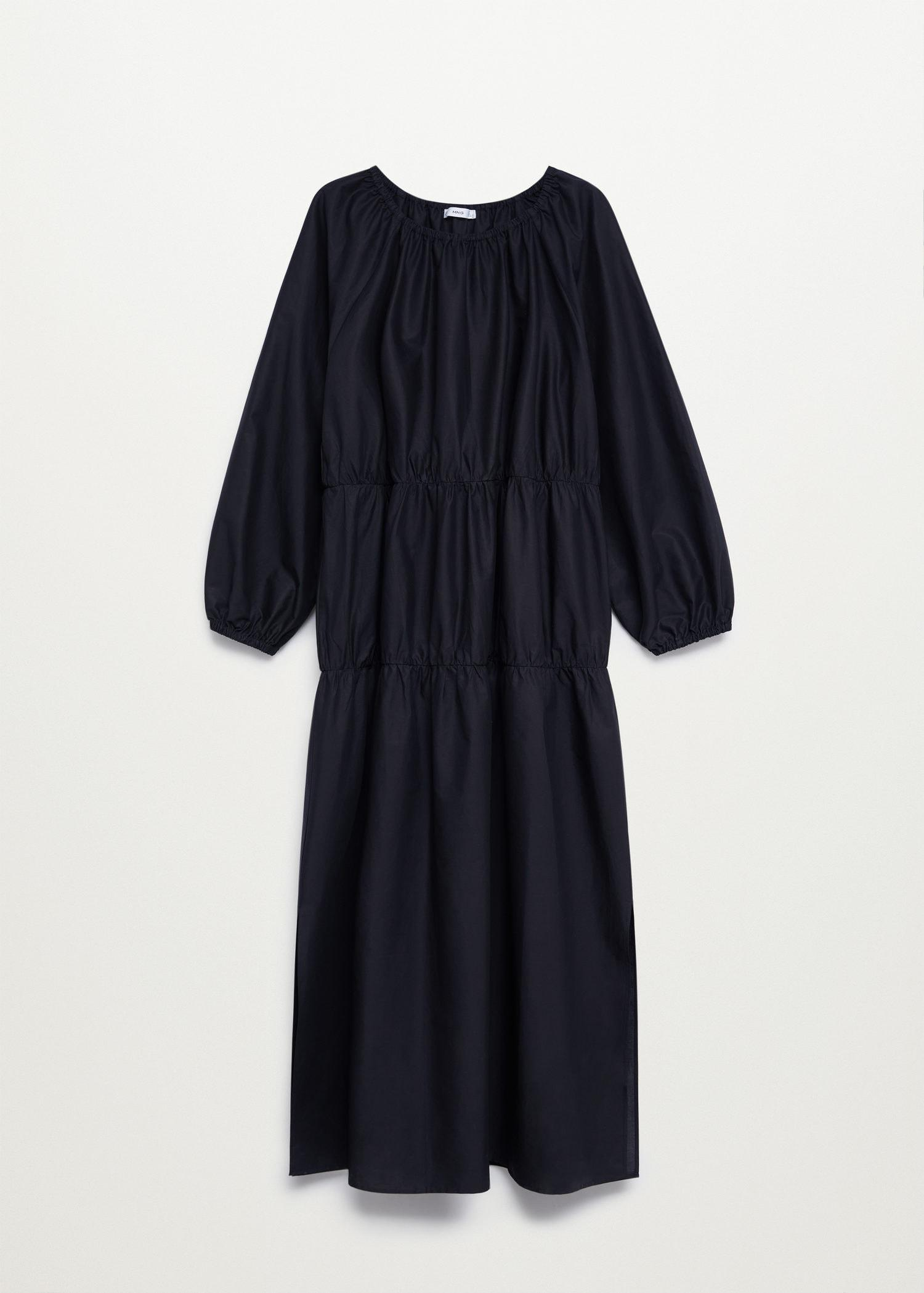Puffed sleeves cotton dress 8