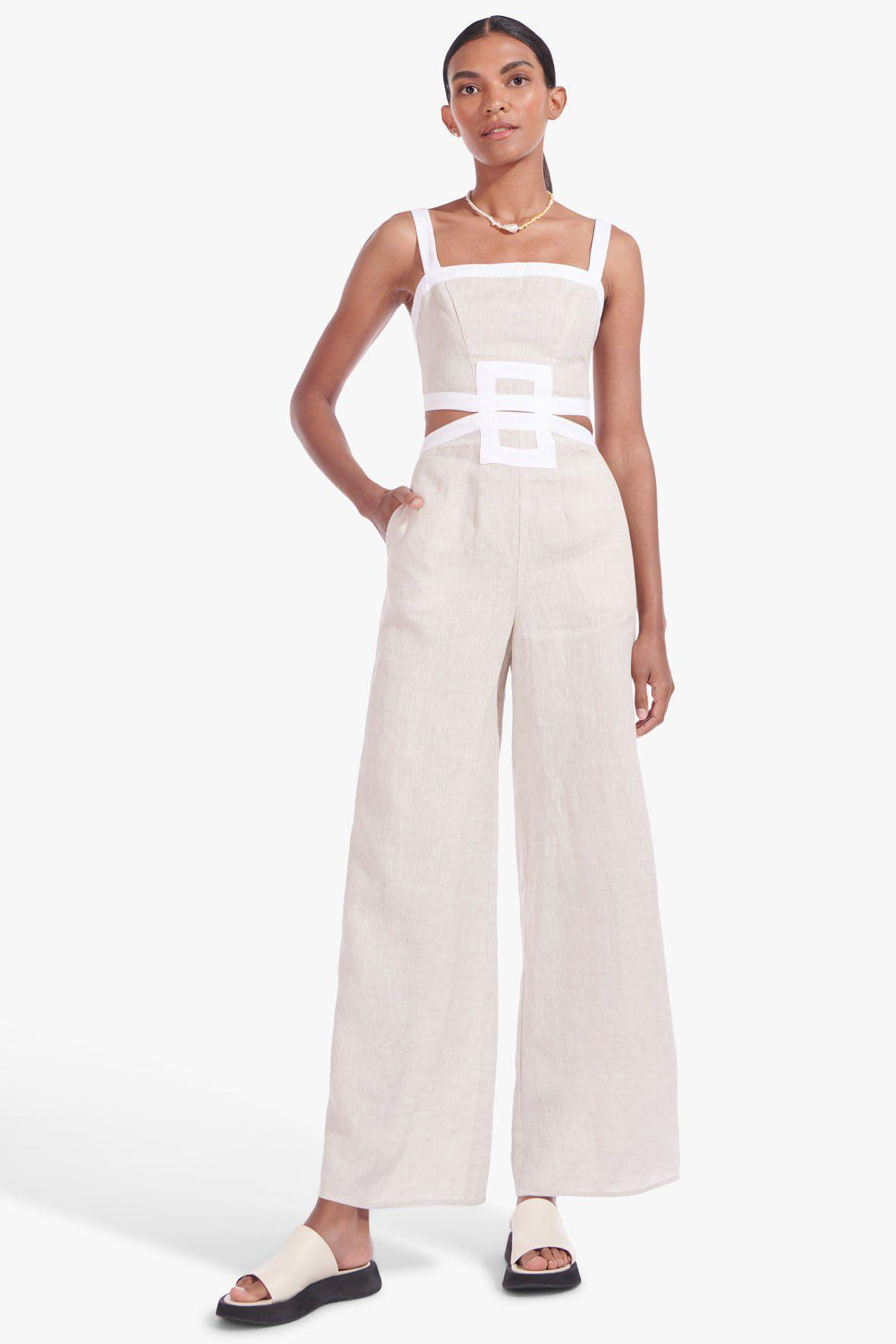 SHELLY JUMPSUIT | NATURAL WHITE