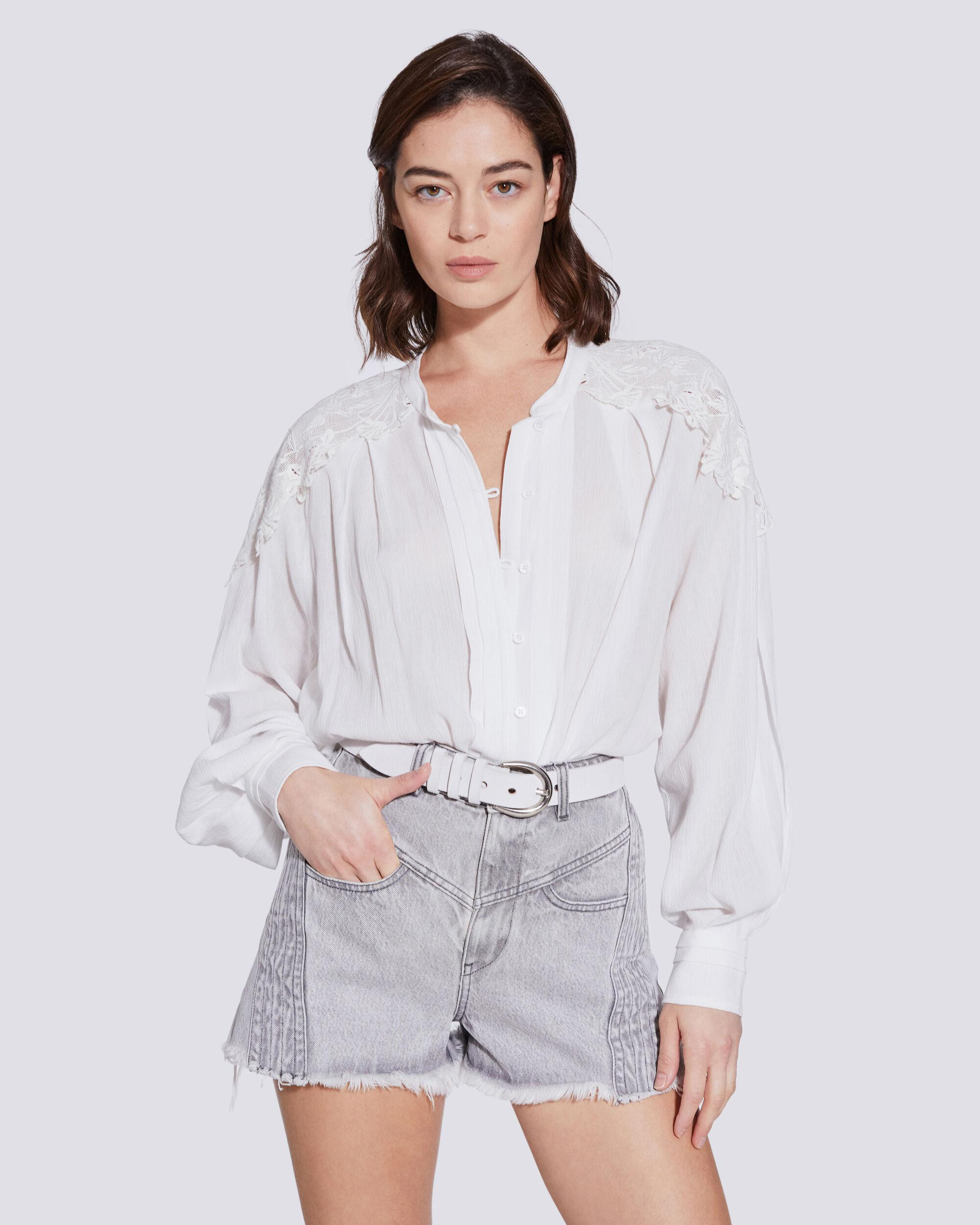 CALISTO LACE BUTTON UP SHIRT