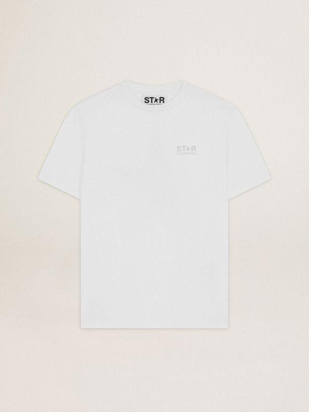 White Star Collection T-shirt with logo and star in silver glitter 3