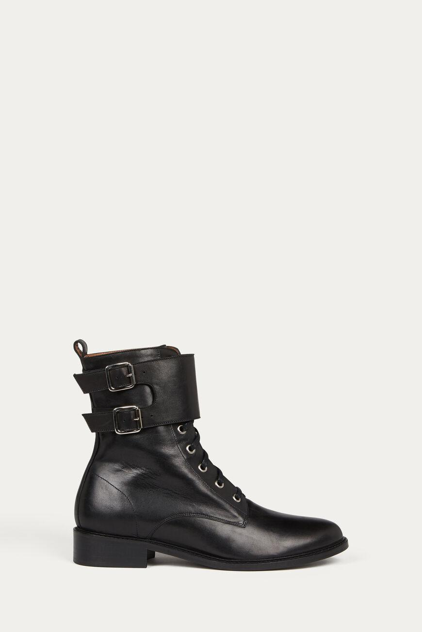 como.FLAT ANKLE BOOTS