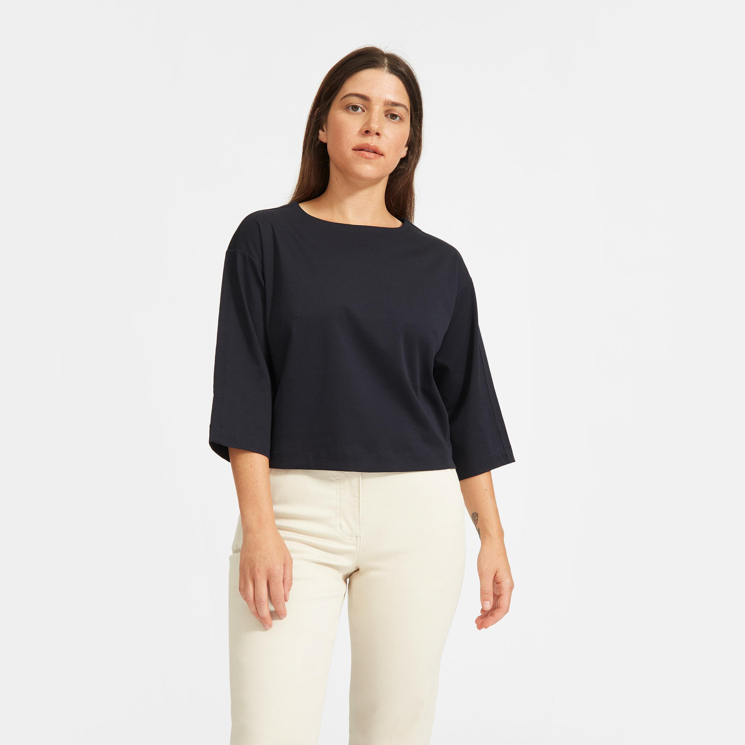 The Luxe Cotton Crop Tee