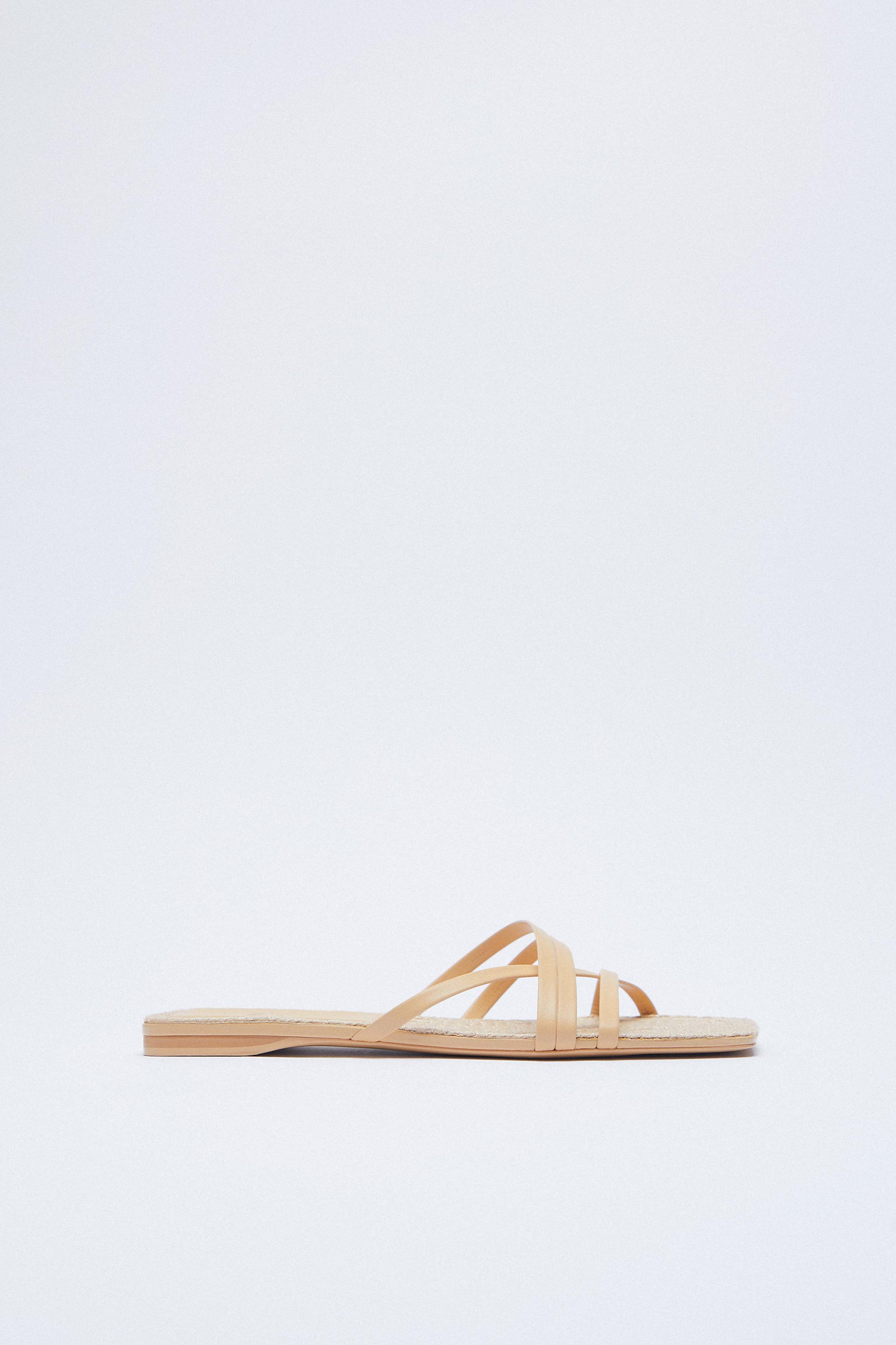 LOW HEEL LEATHER SANDALS WITH JUTE INSOLE 1