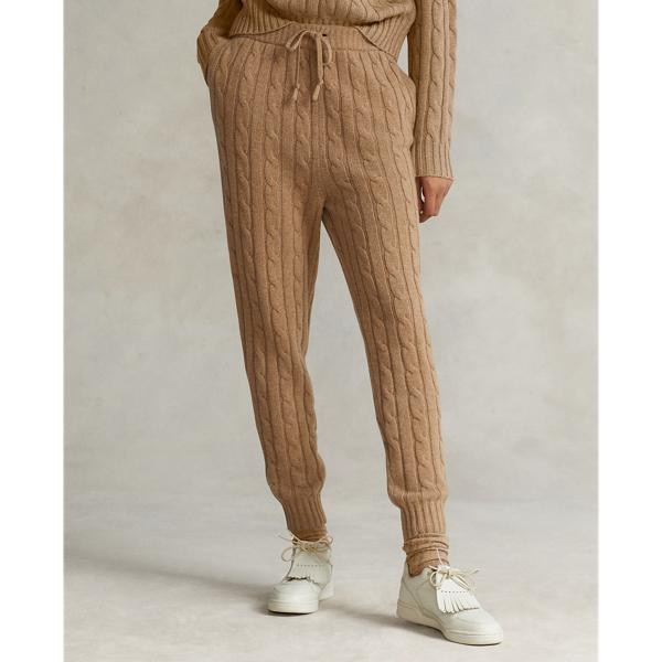 Cable Wool-Cashmere Jogger