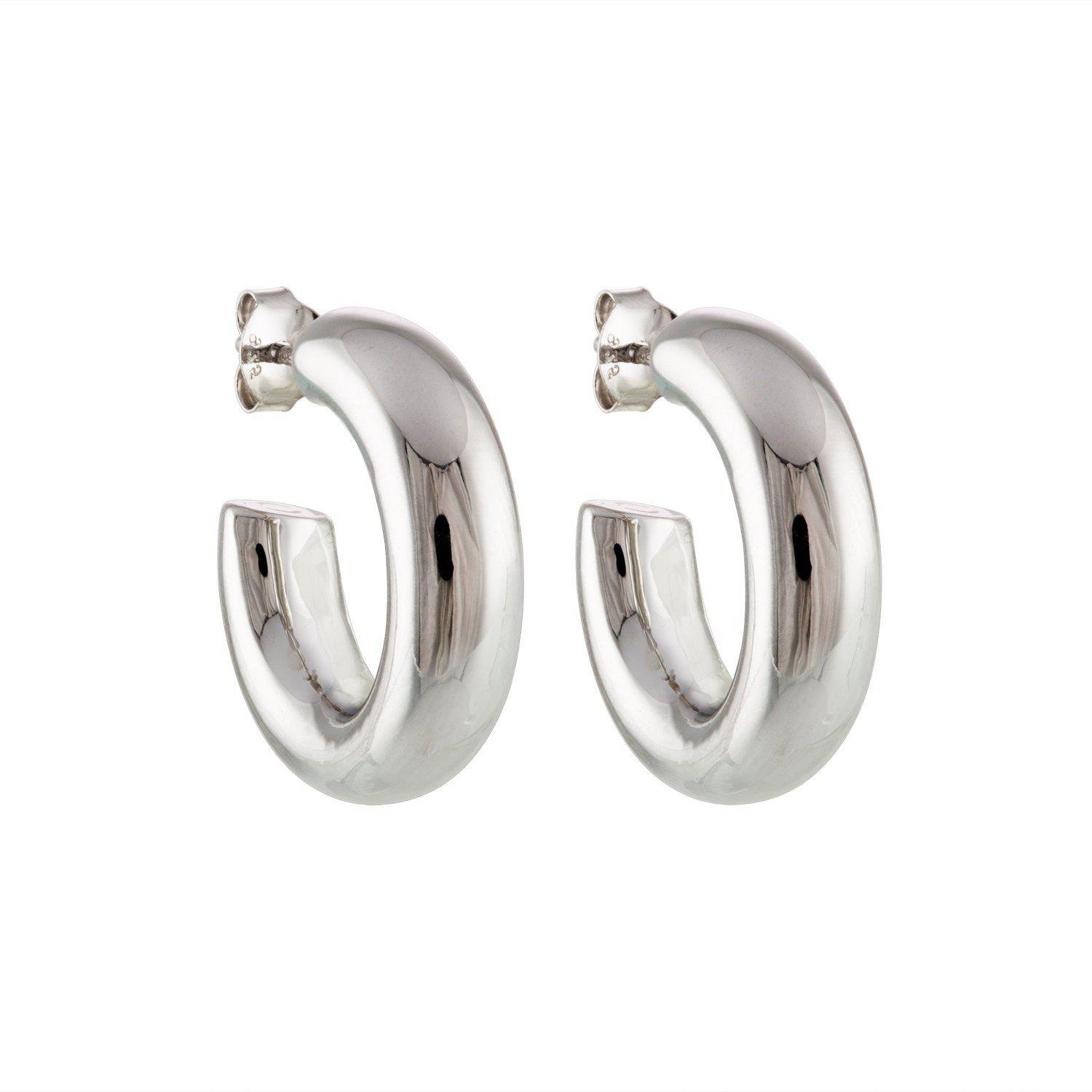 """.75"""" Perfect Hoops in Silver"""