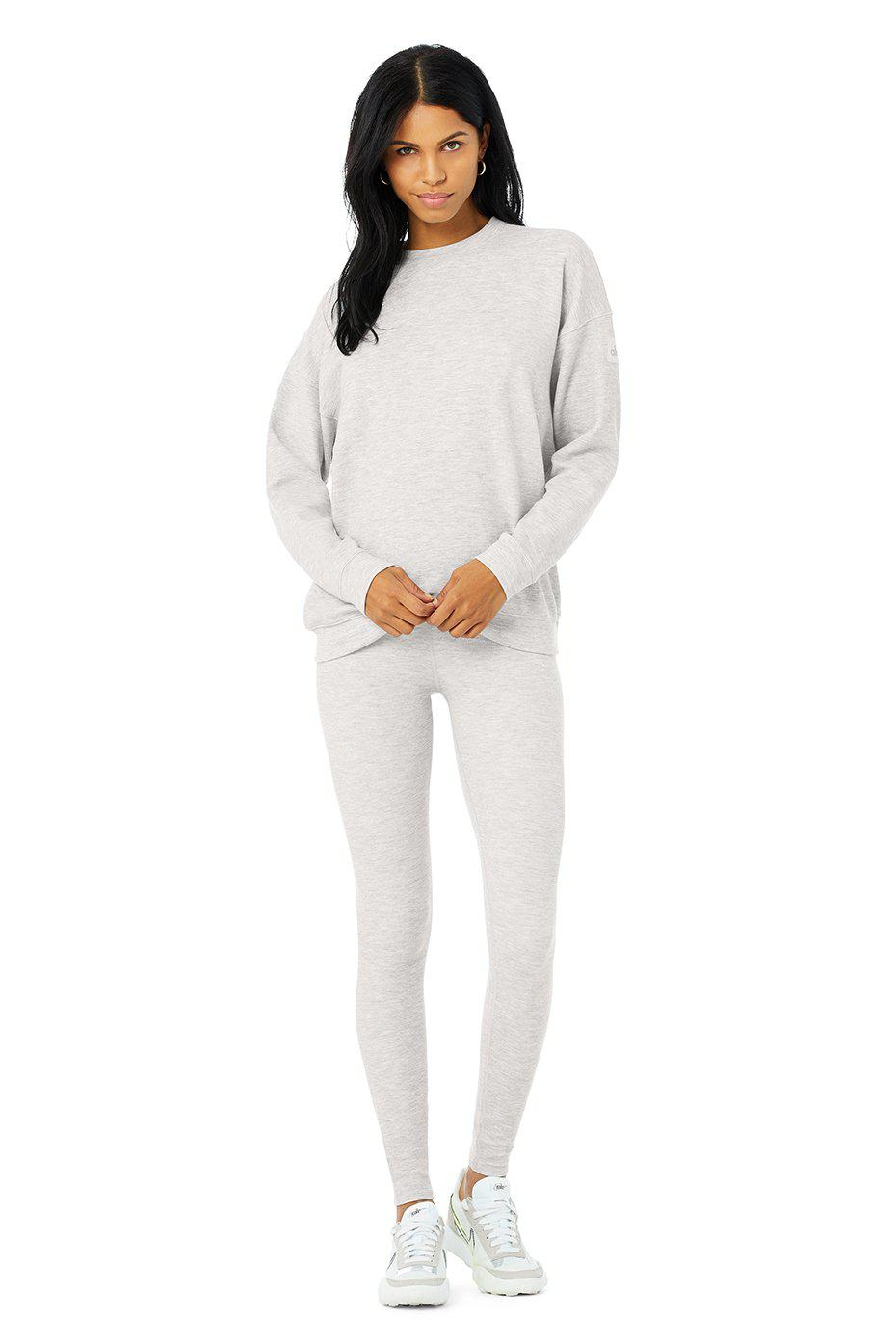 Micro Waffle Relaxation Pullover - Dove Grey Heather 3