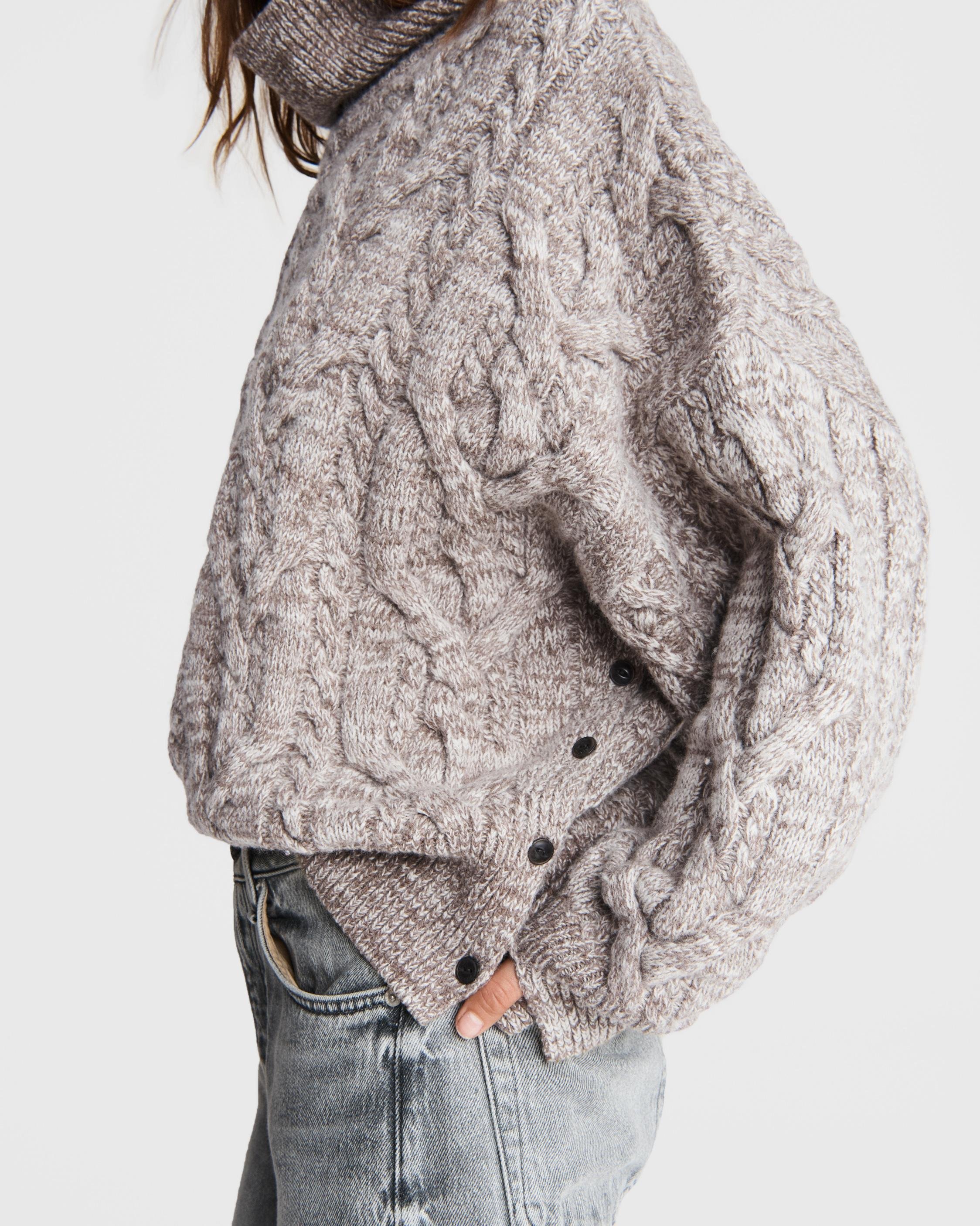 Nora cable wool turtleneck 5