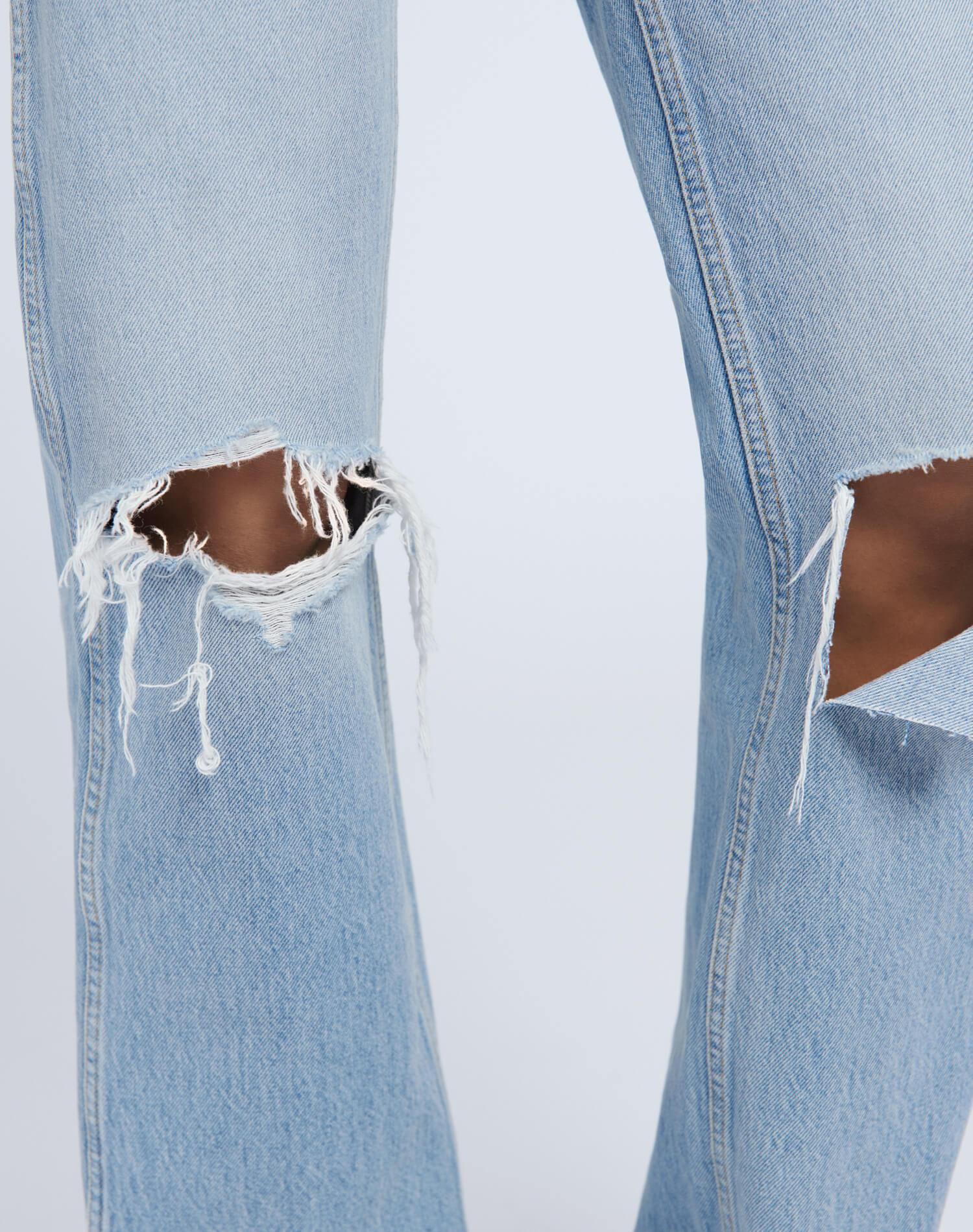 High Rise Loose - Breezy Indigo with Rips 3