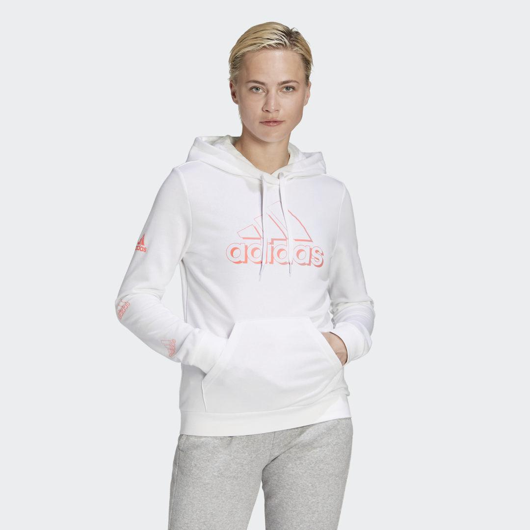 Camo-Inspired Graphic Hoodie White