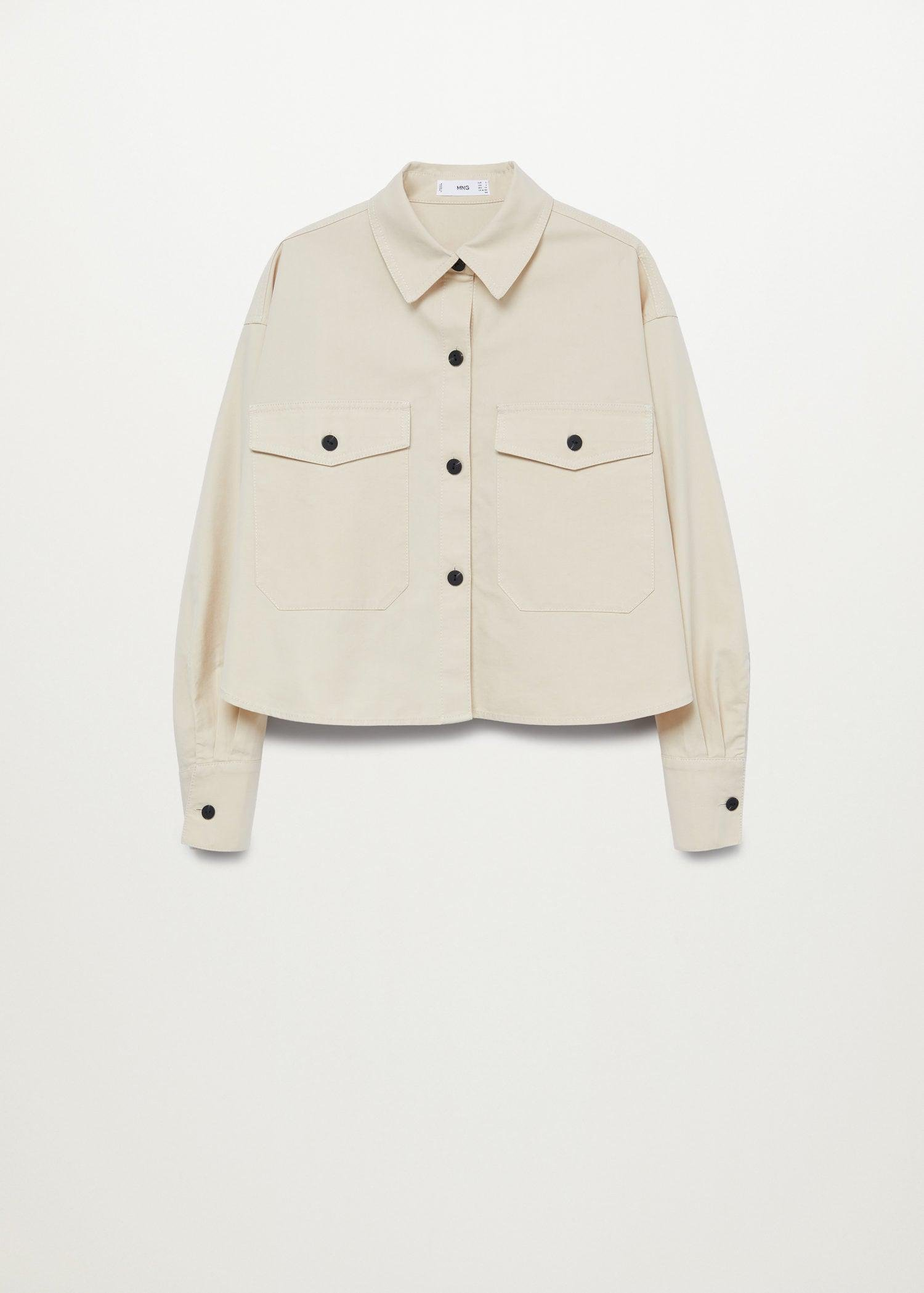 Cropped cotton overshirt 8