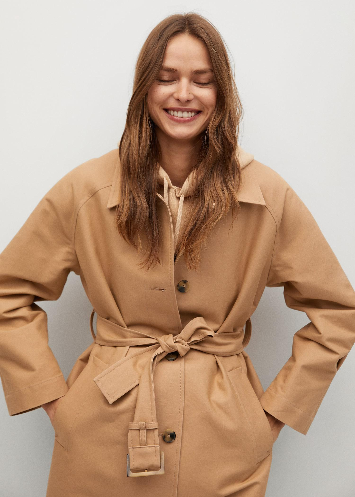 Water-repellent cotton trench 3