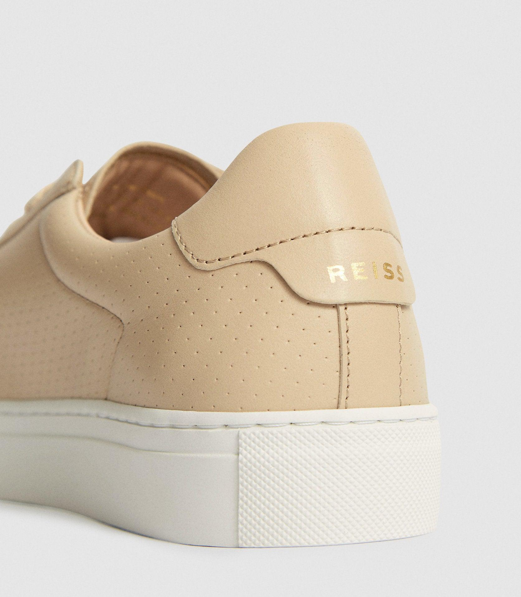FINLEY - PERFORATED LEATHER TRAINERS 2