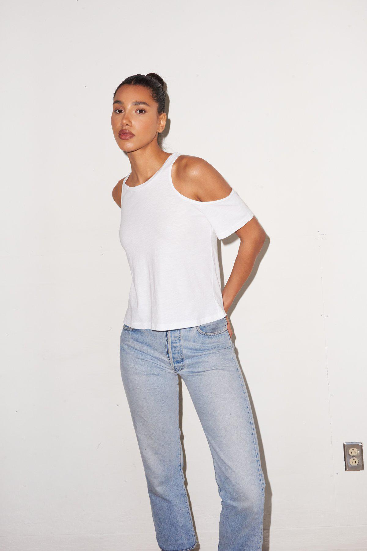 Olivia Cut Out Tee - White 3