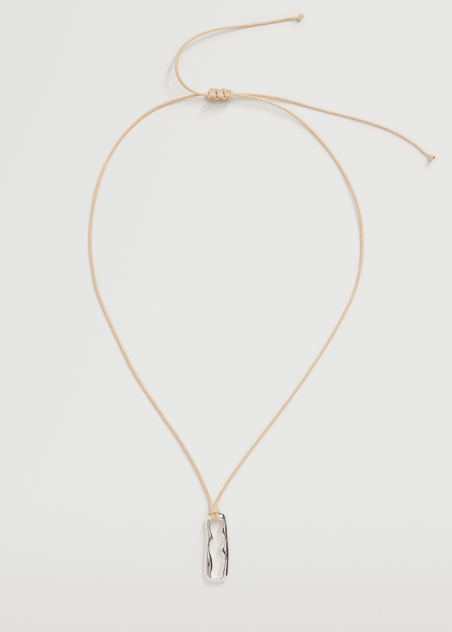 Embossed asymmetrical necklace