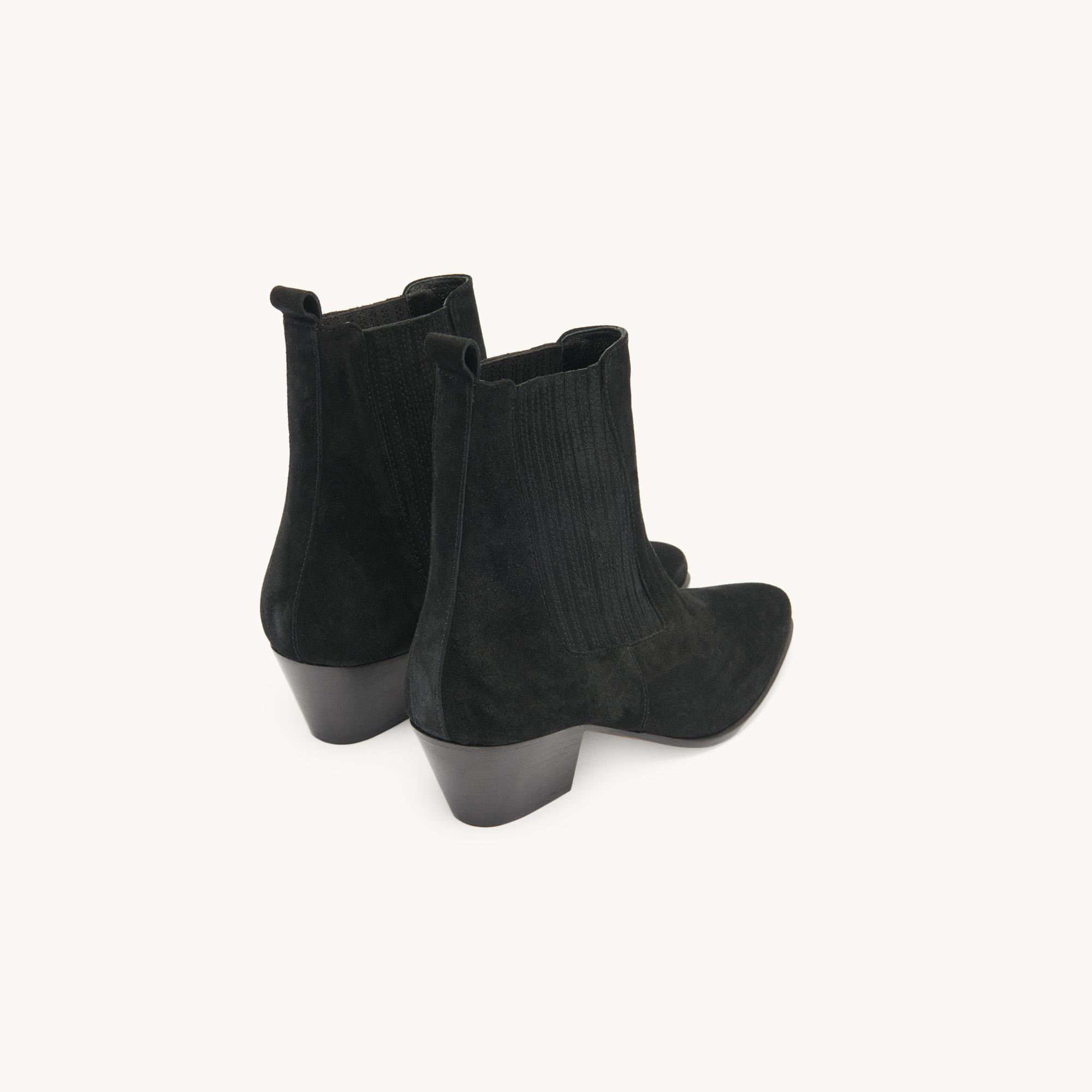 Leather ankle boots with elastic 3