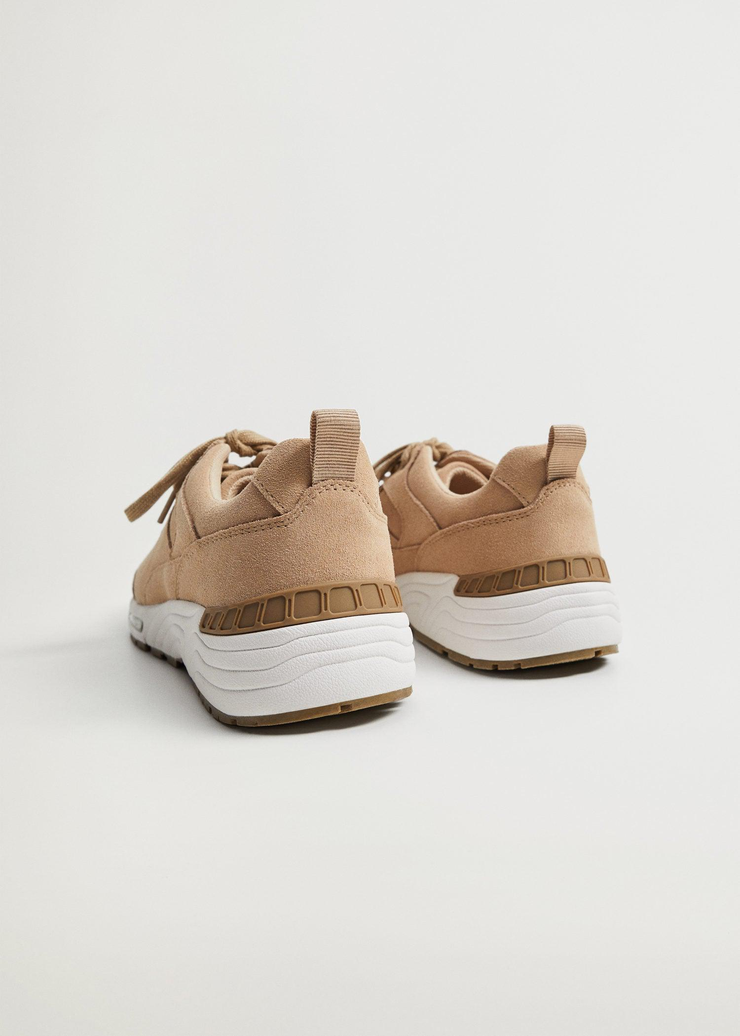 Contrast sole leather sport shoes 2