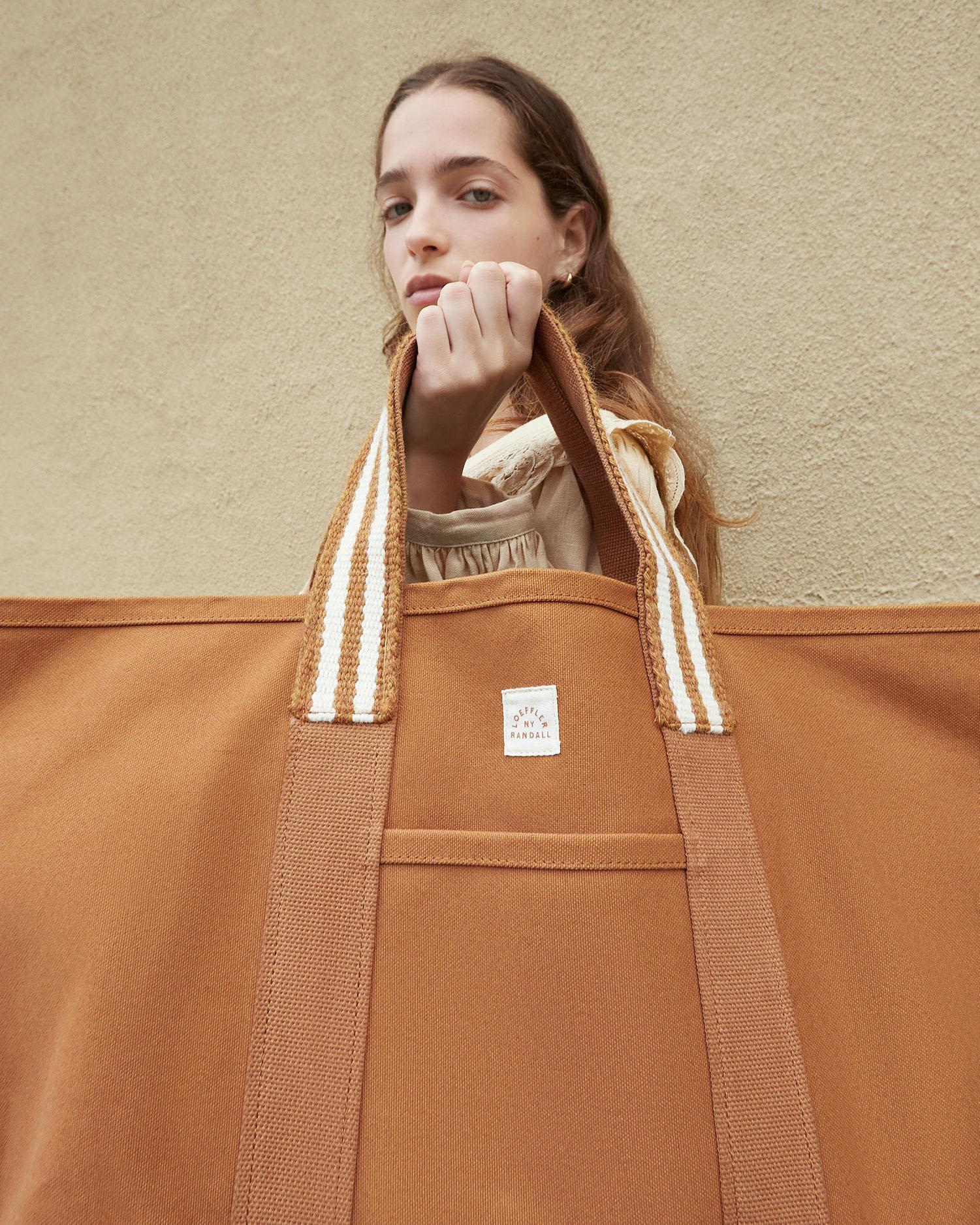 Bodie Toffee Oversized Open Tote 4