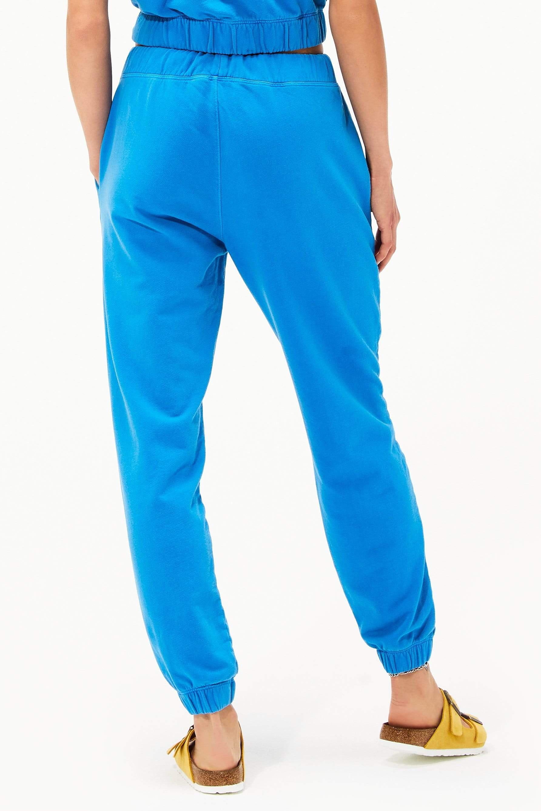 Franky French Terry 7/8 Sweatpant - Persian Blue 1